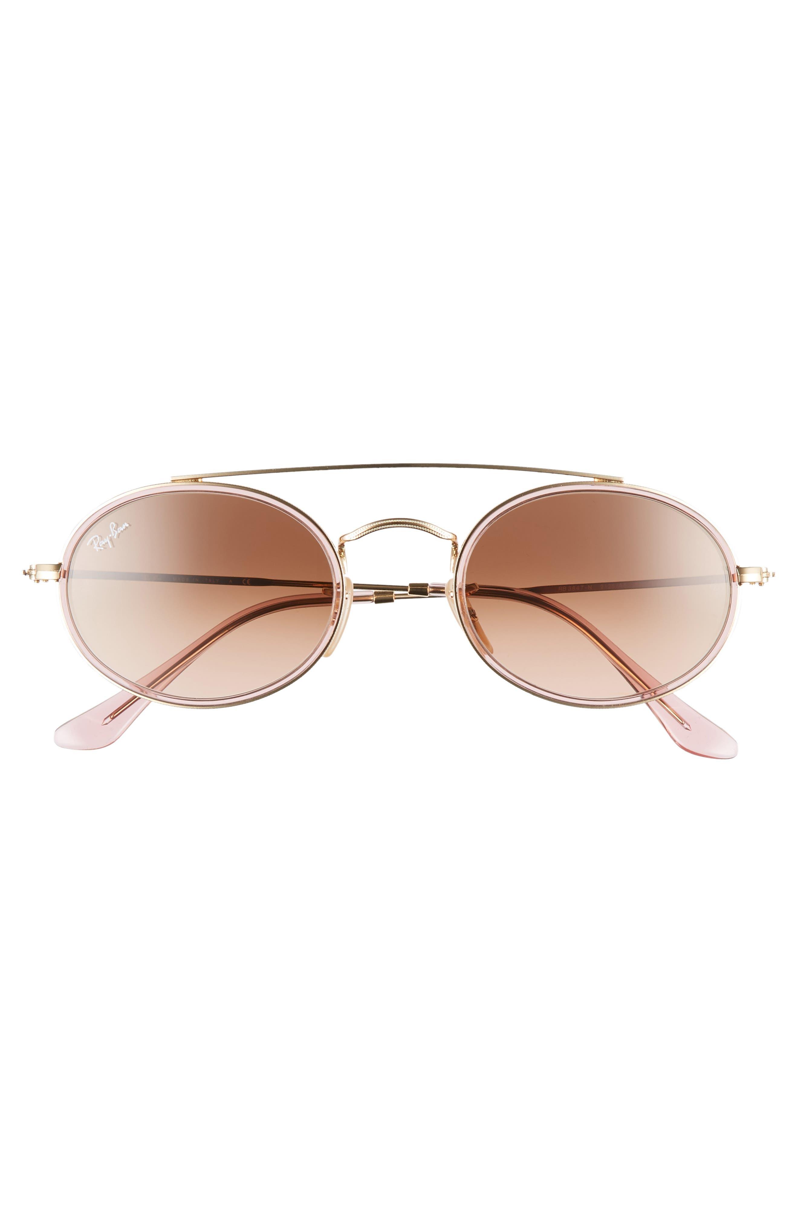 Elite 52mm Gradient Oval Sunglasses,                             Alternate thumbnail 3, color,                             712