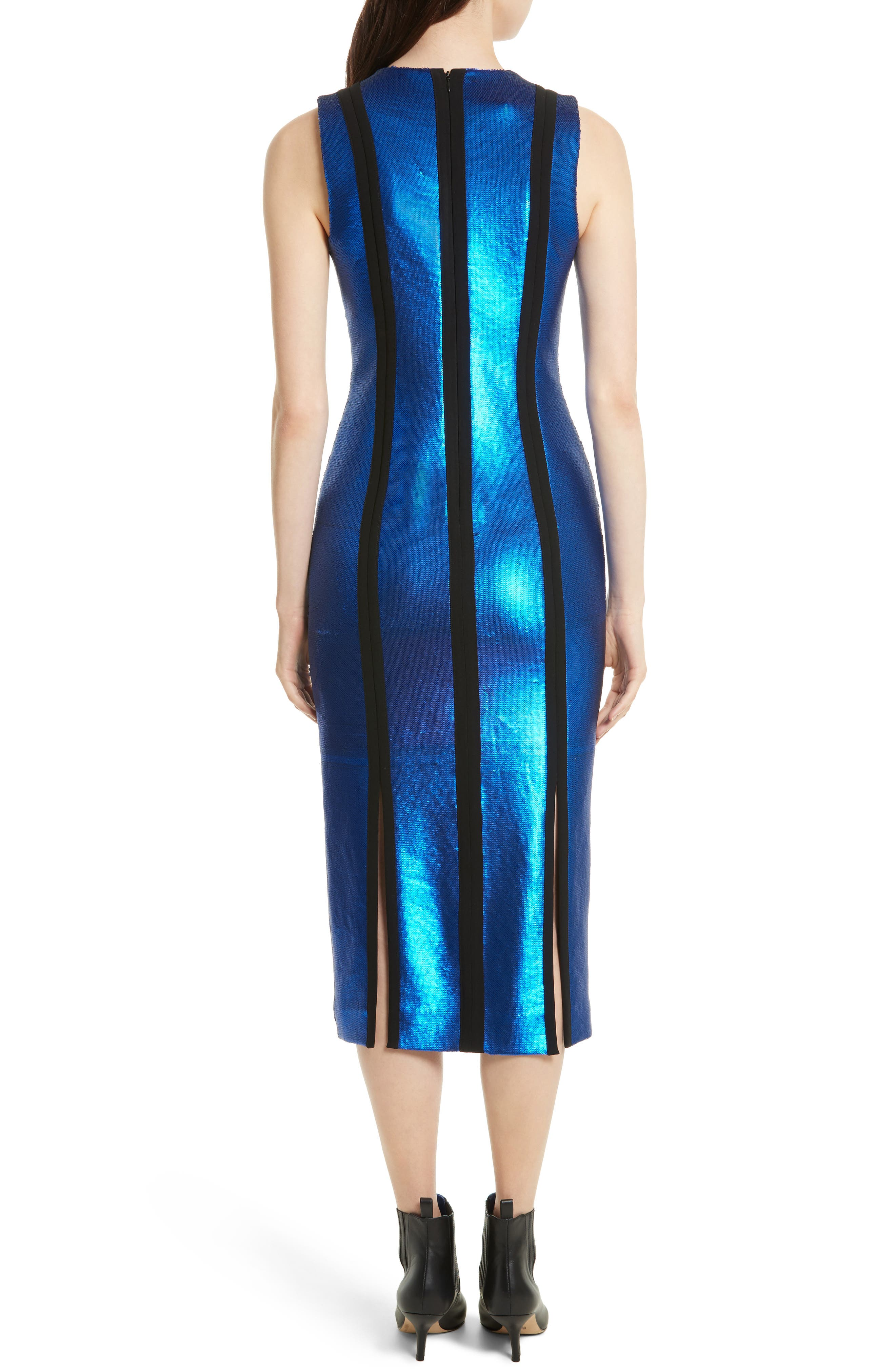 Sequin Panel Midi Dress,                             Alternate thumbnail 2, color,                             486
