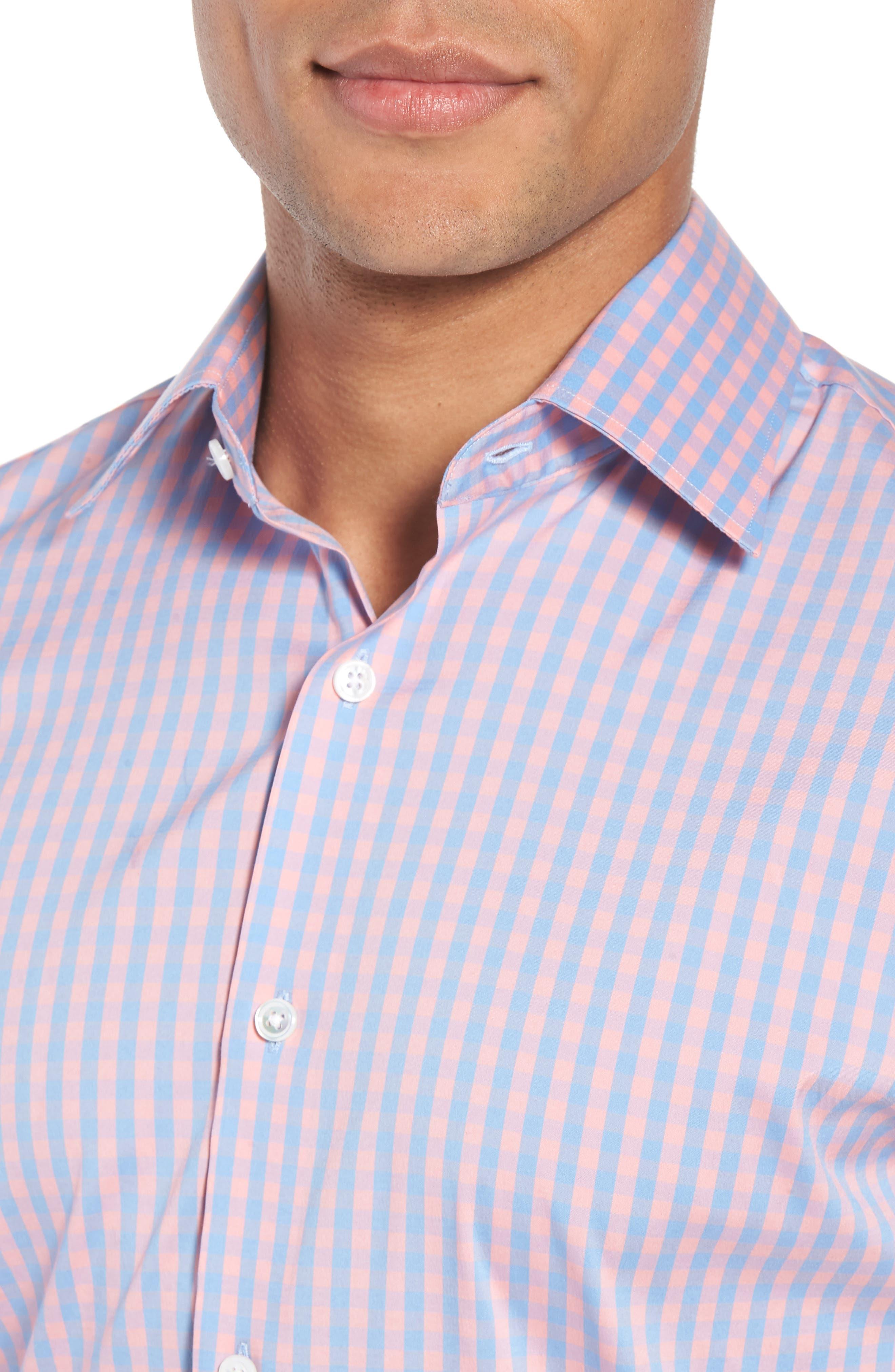 Jetsetter Slim Fit Stretch Check Dress Shirt,                             Alternate thumbnail 2, color,                             650