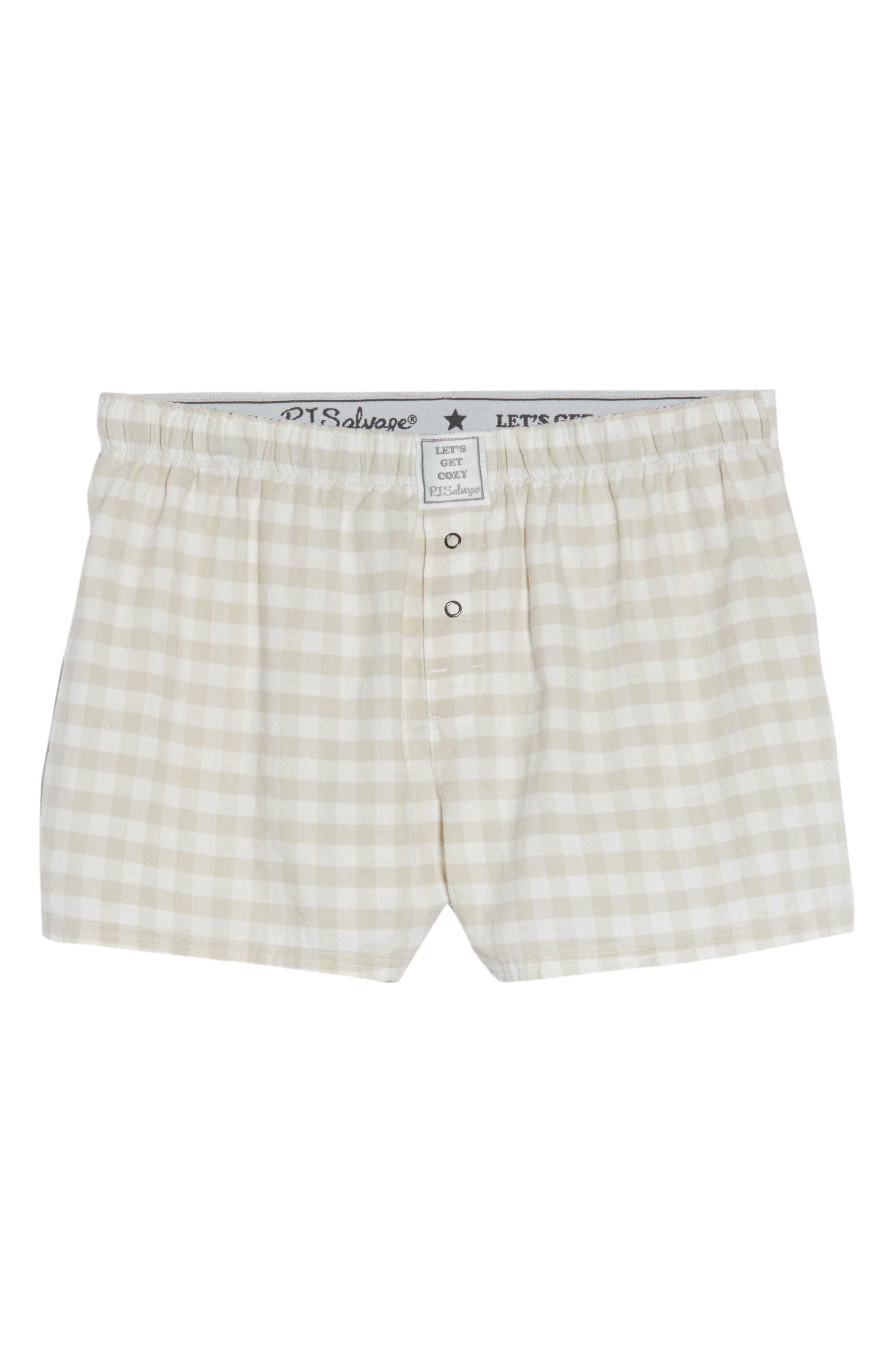 Gingham Pajama Shorts,                             Alternate thumbnail 6, color,                             250
