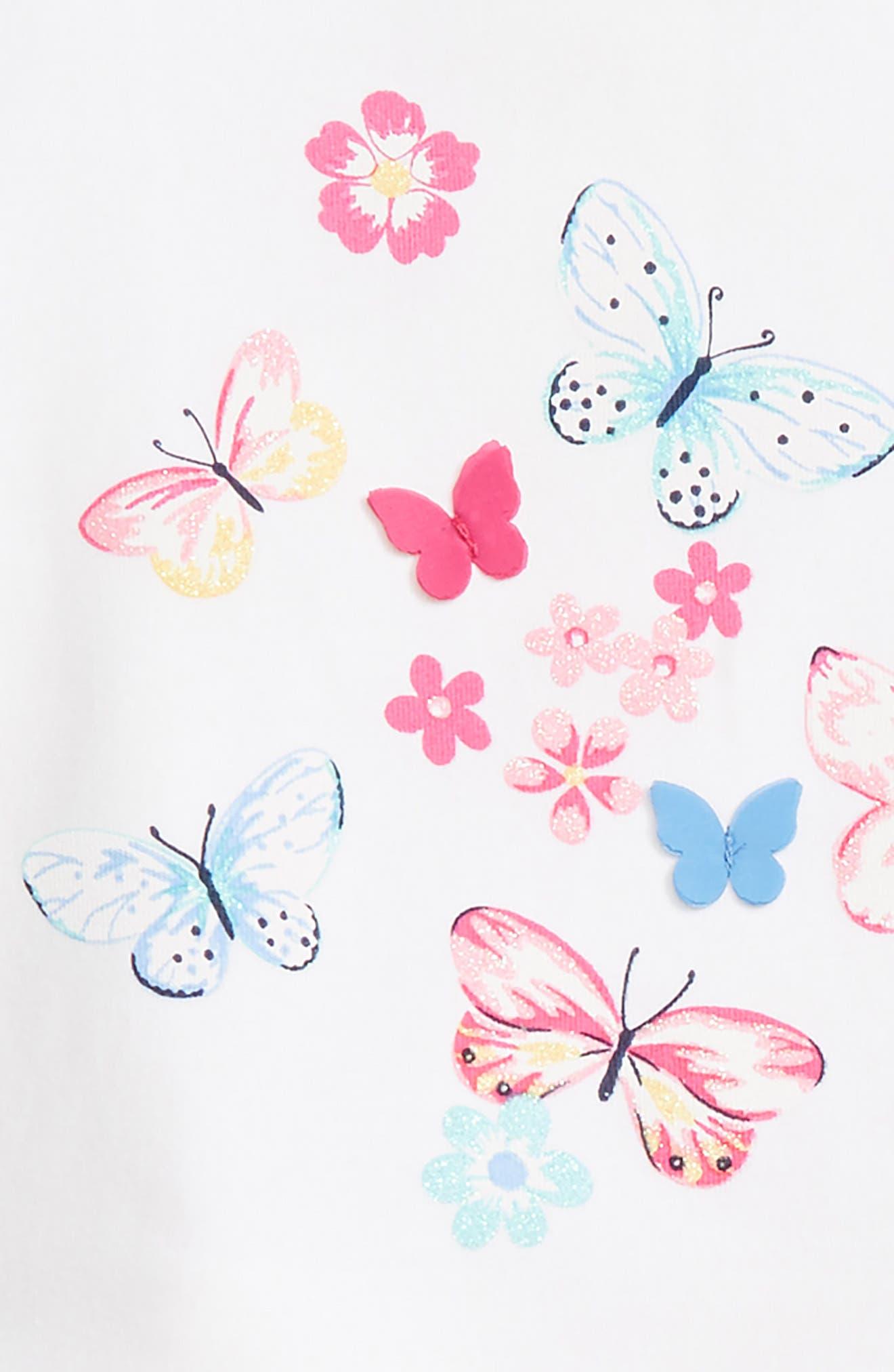 Butterfly Dress & Leggings Set,                             Alternate thumbnail 2, color,