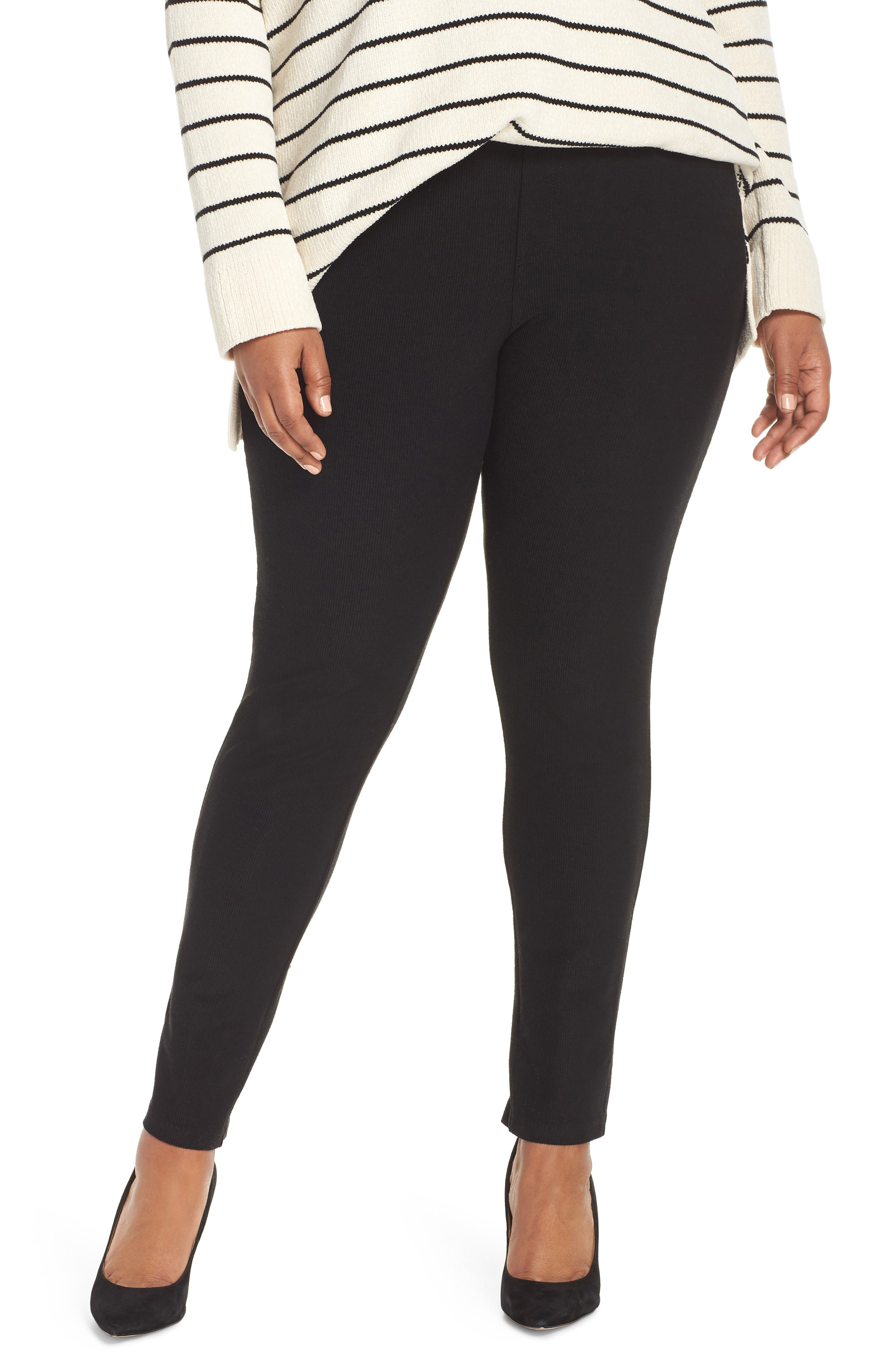 5-Pocket Skinny Pants,                         Main,                         color, BLACK