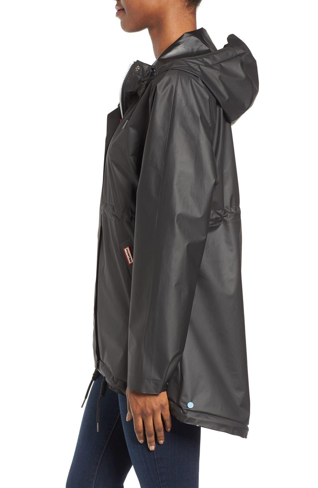 'Original Smock' Hooded Drawstring Waterproof Jacket,                             Alternate thumbnail 4, color,                             001