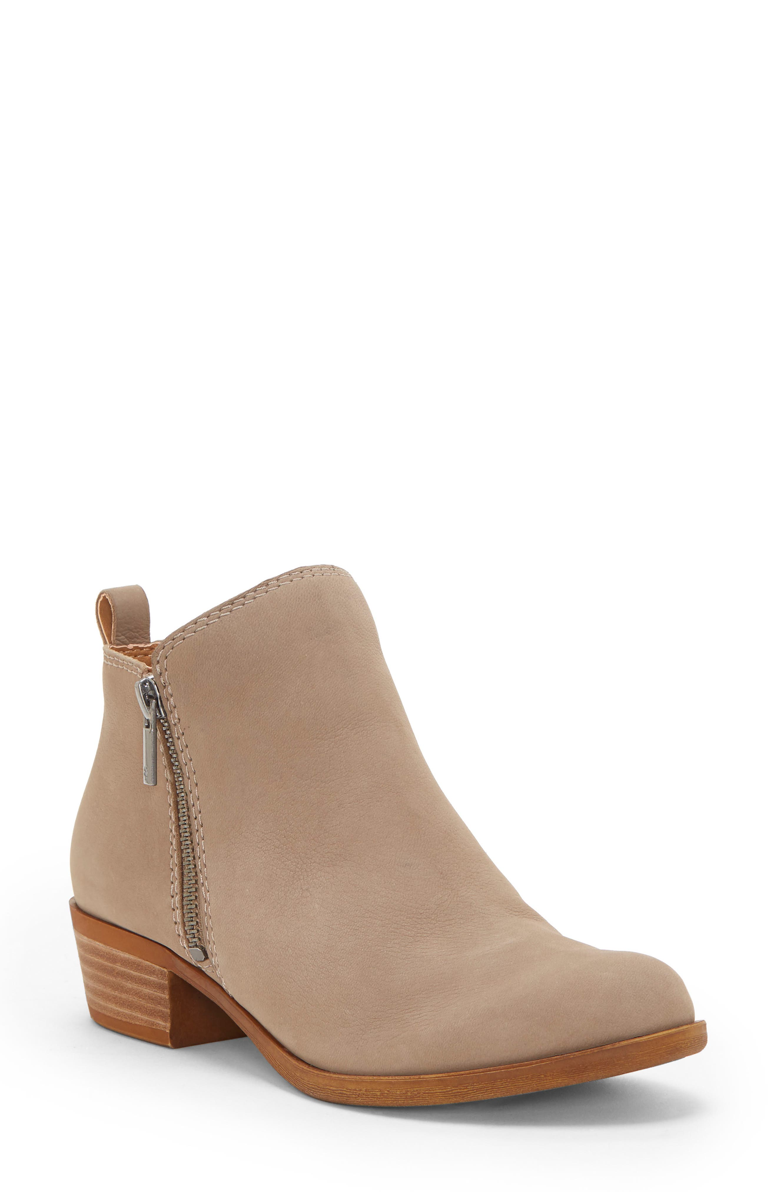 Basel Bootie,                             Main thumbnail 1, color,                             CHINCHILLA SUEDE