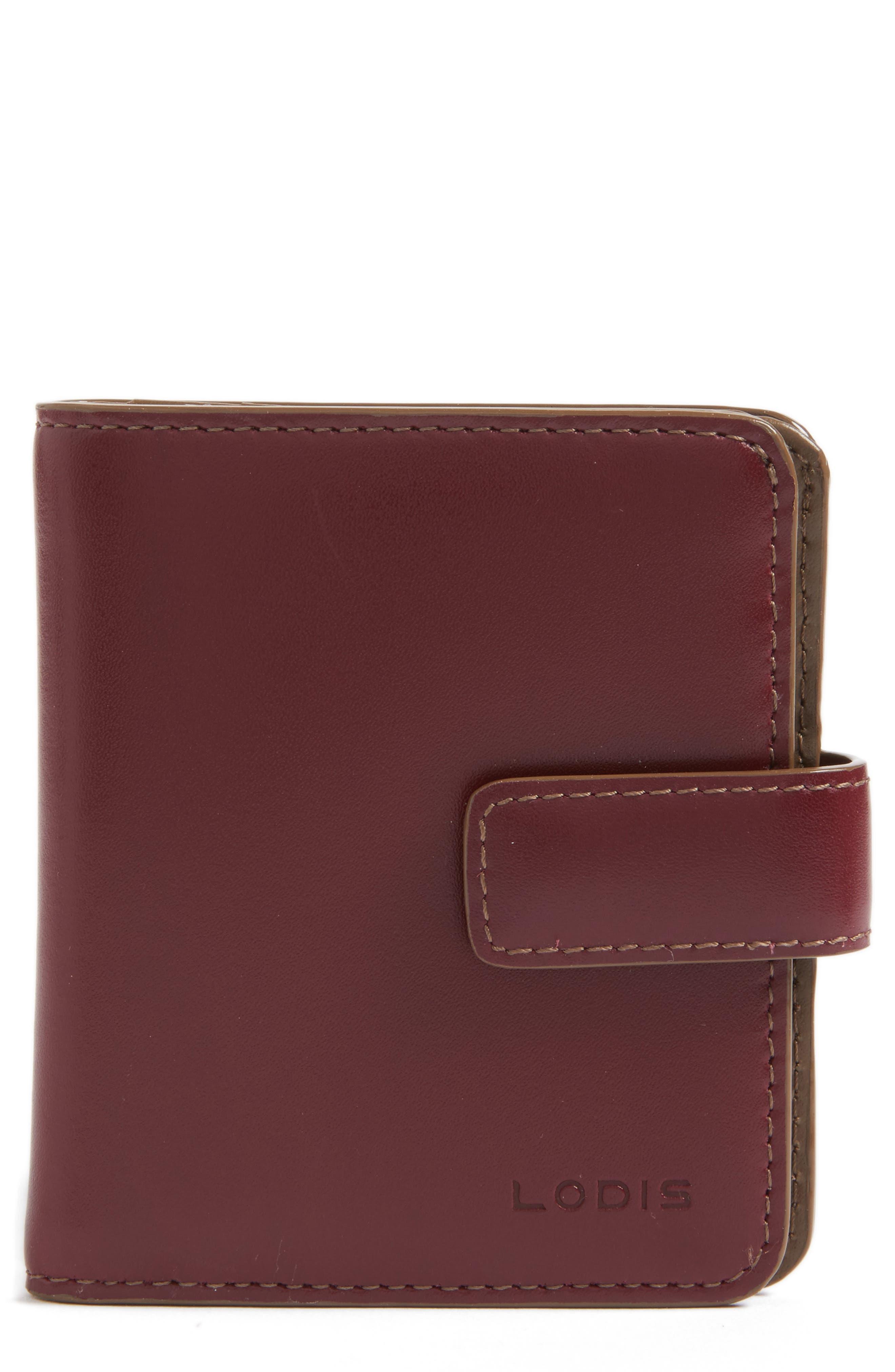 Lodis Petite Audrey RFID Leather Wallet,                             Main thumbnail 3, color,