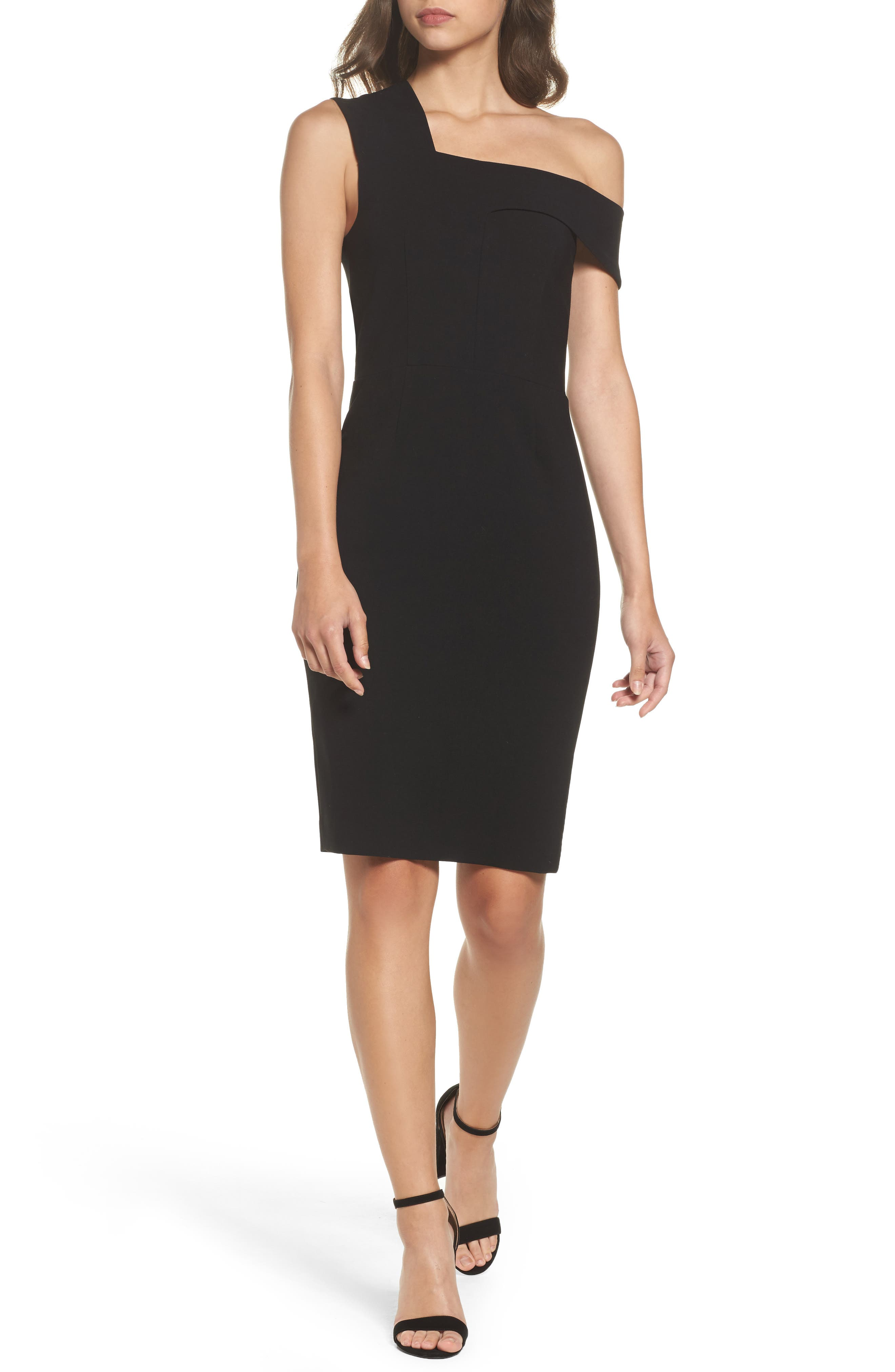 Whisper Ruth Off the Shoulder Sheath Dress,                             Main thumbnail 1, color,