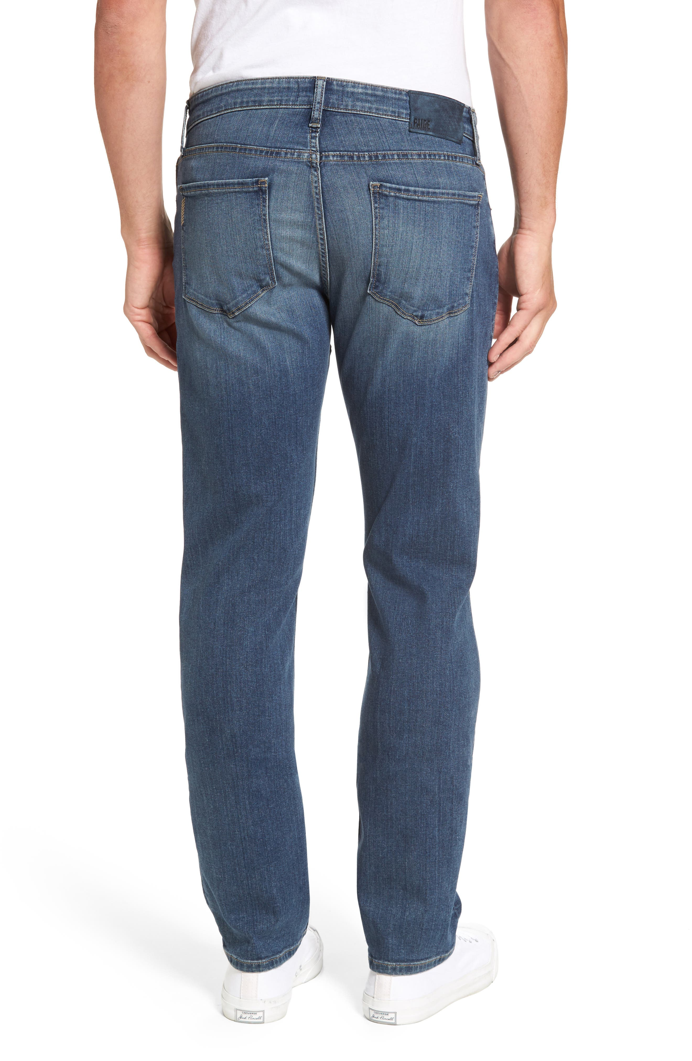 Normandie Straight Fit Jeans,                             Alternate thumbnail 2, color,                             ALMONT