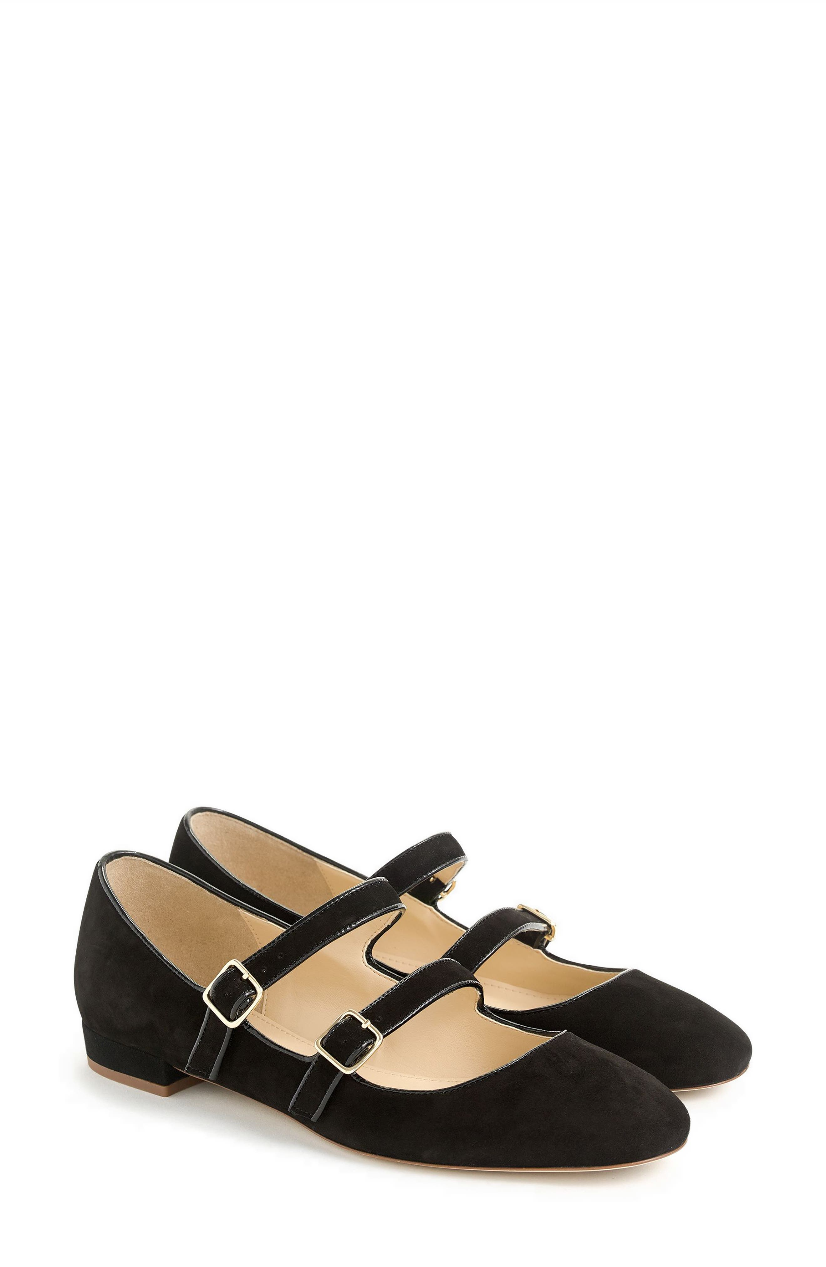 Multistrap Mary Jane Flat,                             Main thumbnail 1, color,                             001