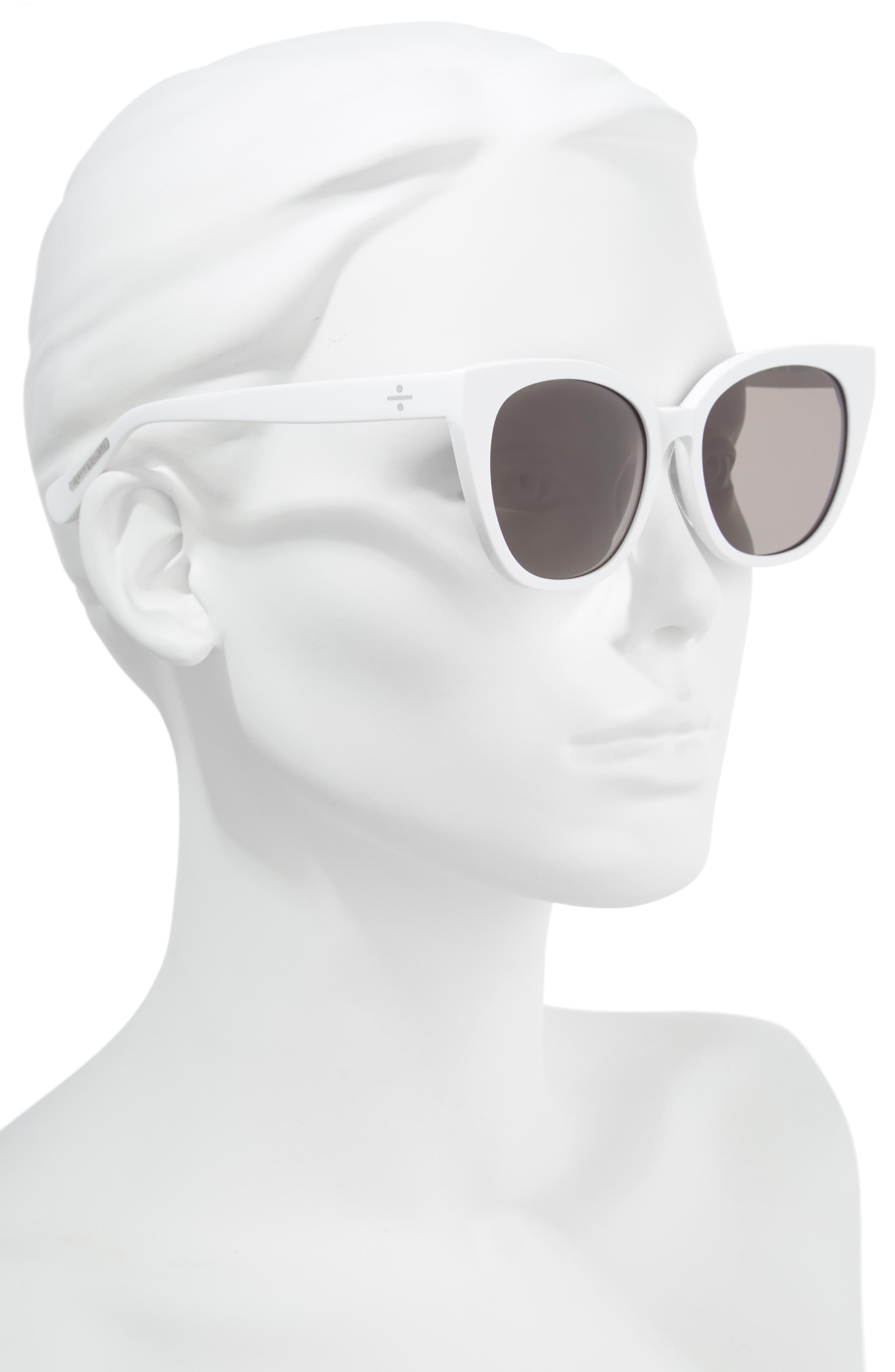 BLANC & ECLARE Monaco 54mm Cat Eye Sunglasses,                             Alternate thumbnail 2, color,                             SNOW/ SMOG GREY