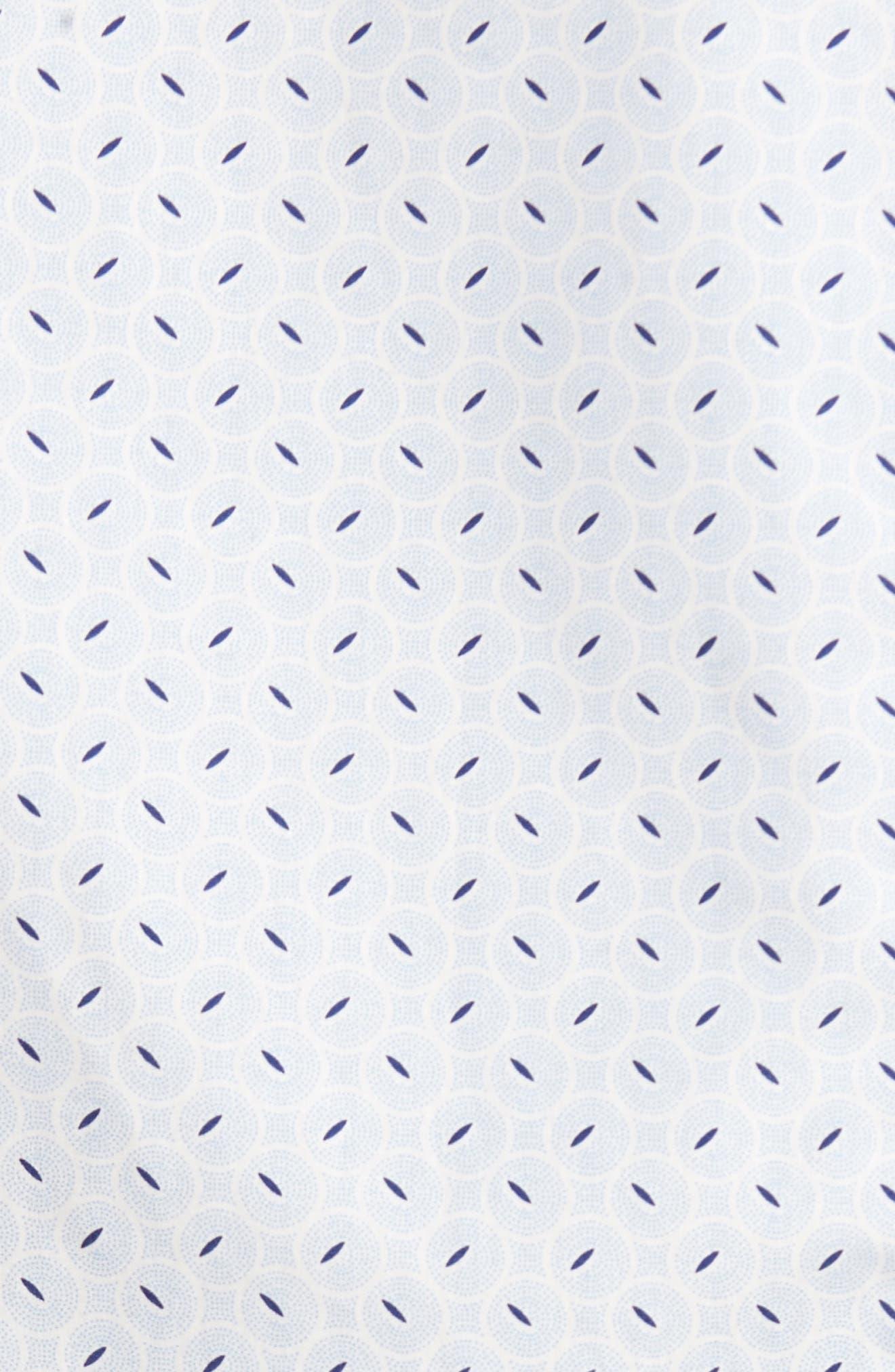 Slim Fit Retro Print Sport Shirt,                             Alternate thumbnail 5, color,                             400