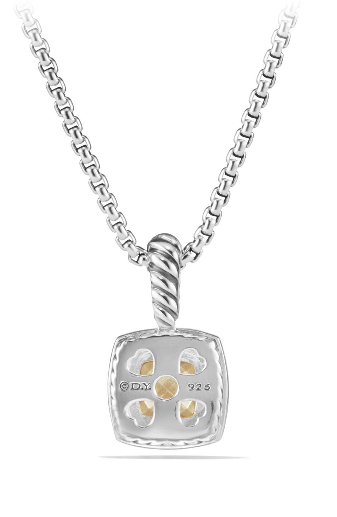 Petite Albion<sup>®</sup> Pendant Necklace with Diamonds,                             Alternate thumbnail 2, color,                             SILVER/ GOLD