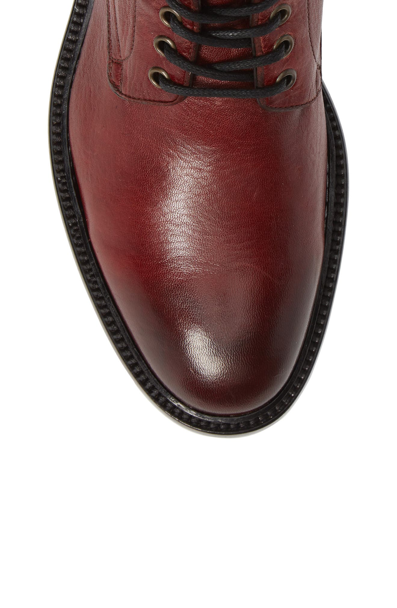 Greyson Plain Toe Boot,                             Alternate thumbnail 5, color,                             BURGUNDY