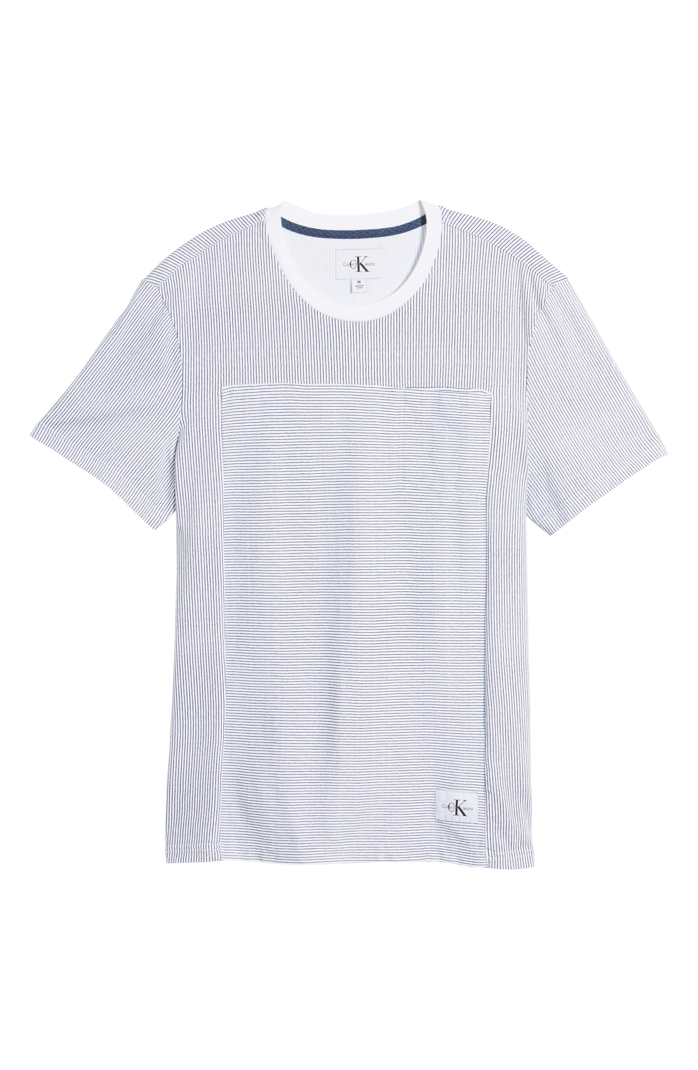 Pinstripe Pocket T-Shirt,                             Alternate thumbnail 6, color,