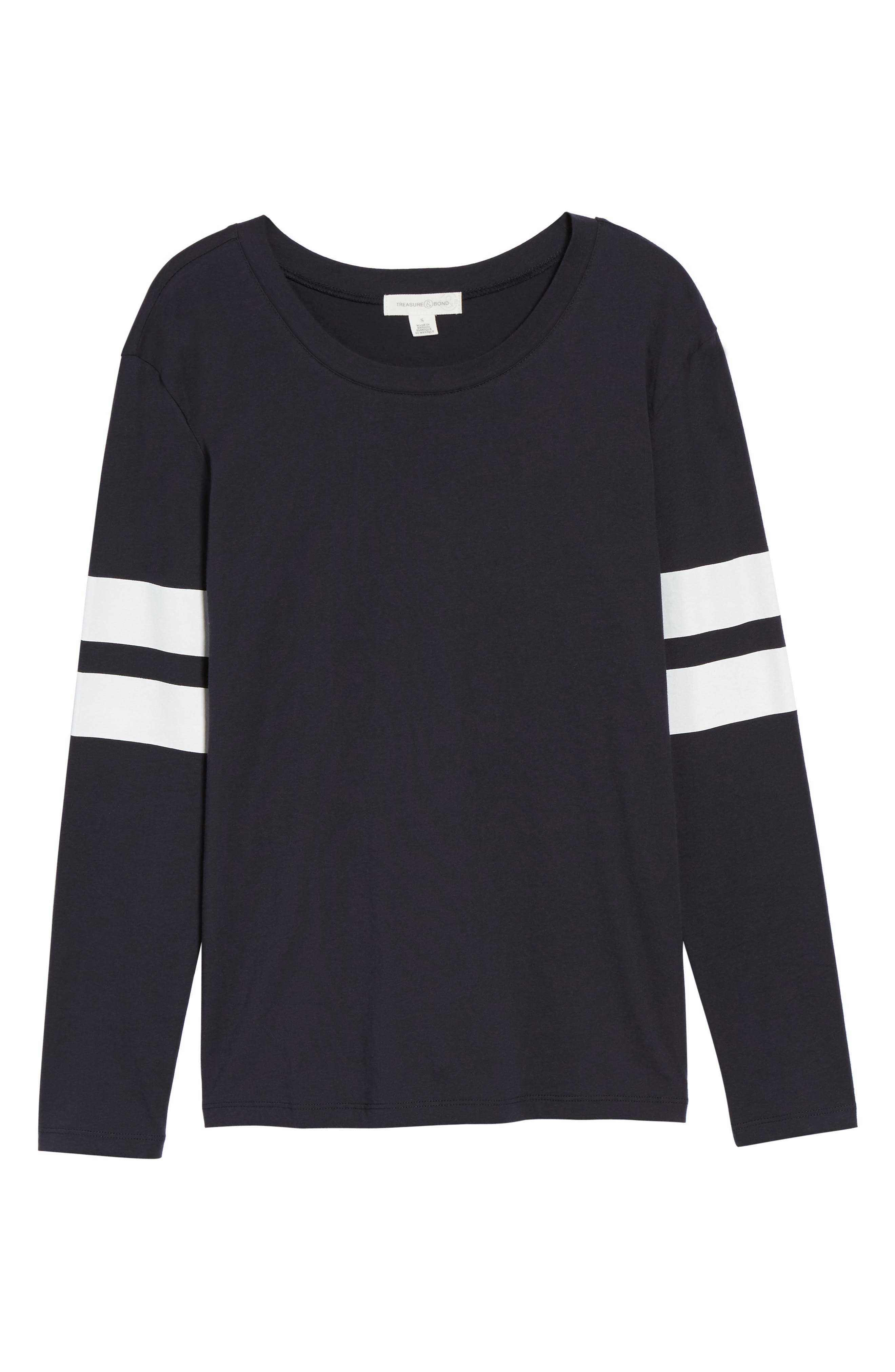 Varsity Stripe Cotton Tee,                             Alternate thumbnail 116, color,