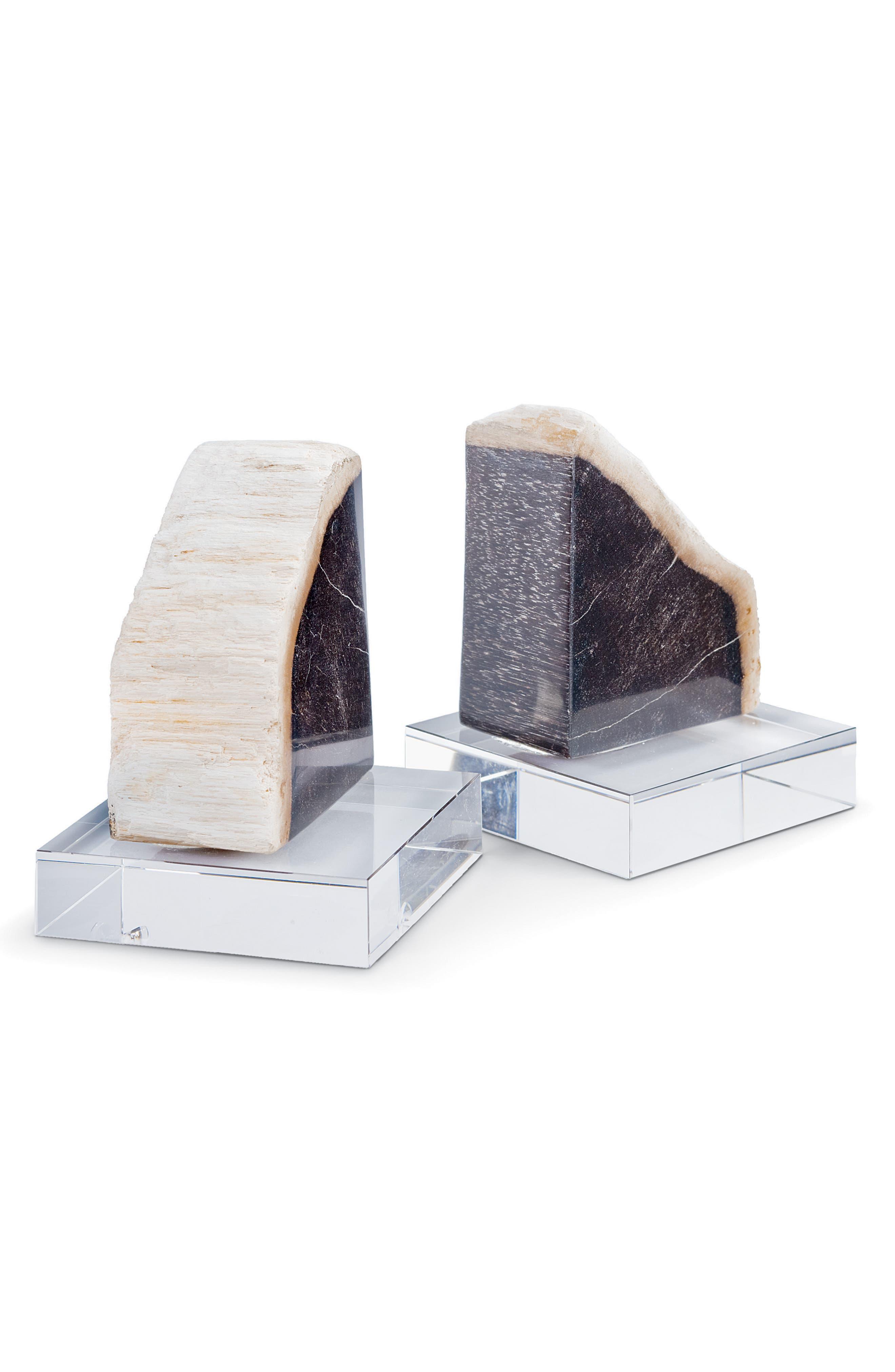 Regina Andrew Petrified Wood Bookends,                         Main,                         color, 100