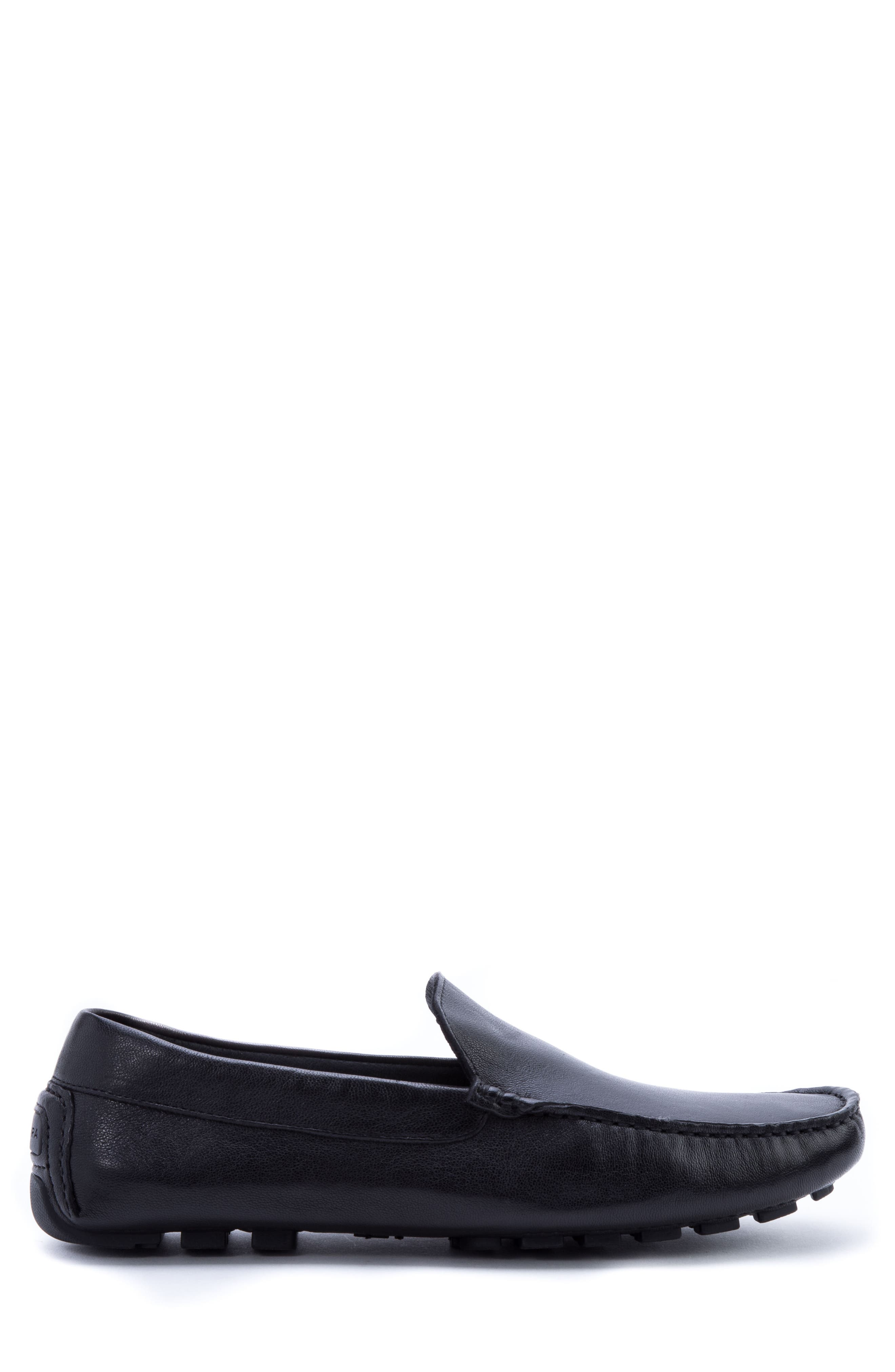Picasso 3 Moc Toe Driving Loafer,                             Alternate thumbnail 3, color,                             BLACK LEATHER