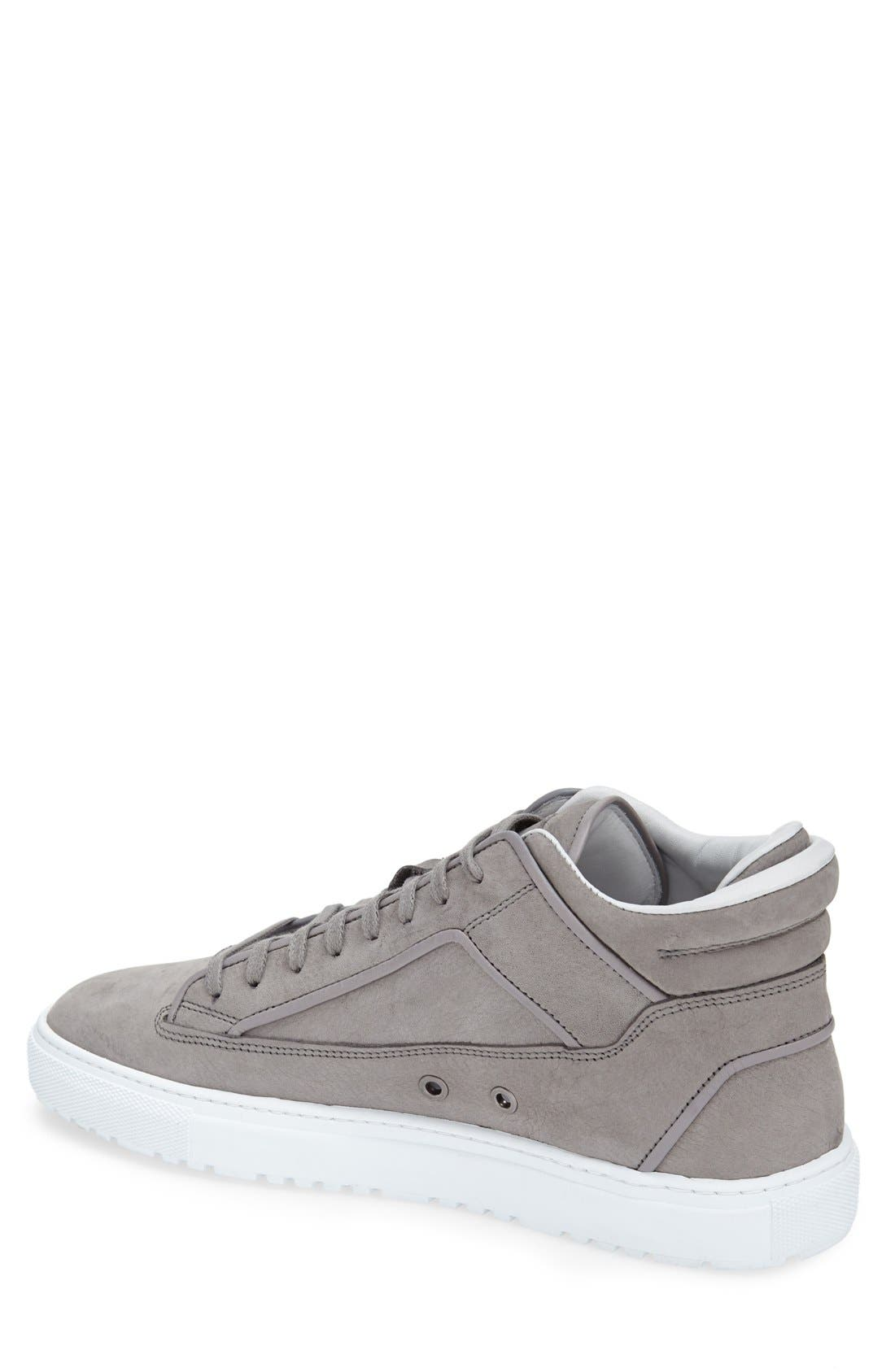 Leather Mid Top Sneaker,                             Alternate thumbnail 2, color,                             032