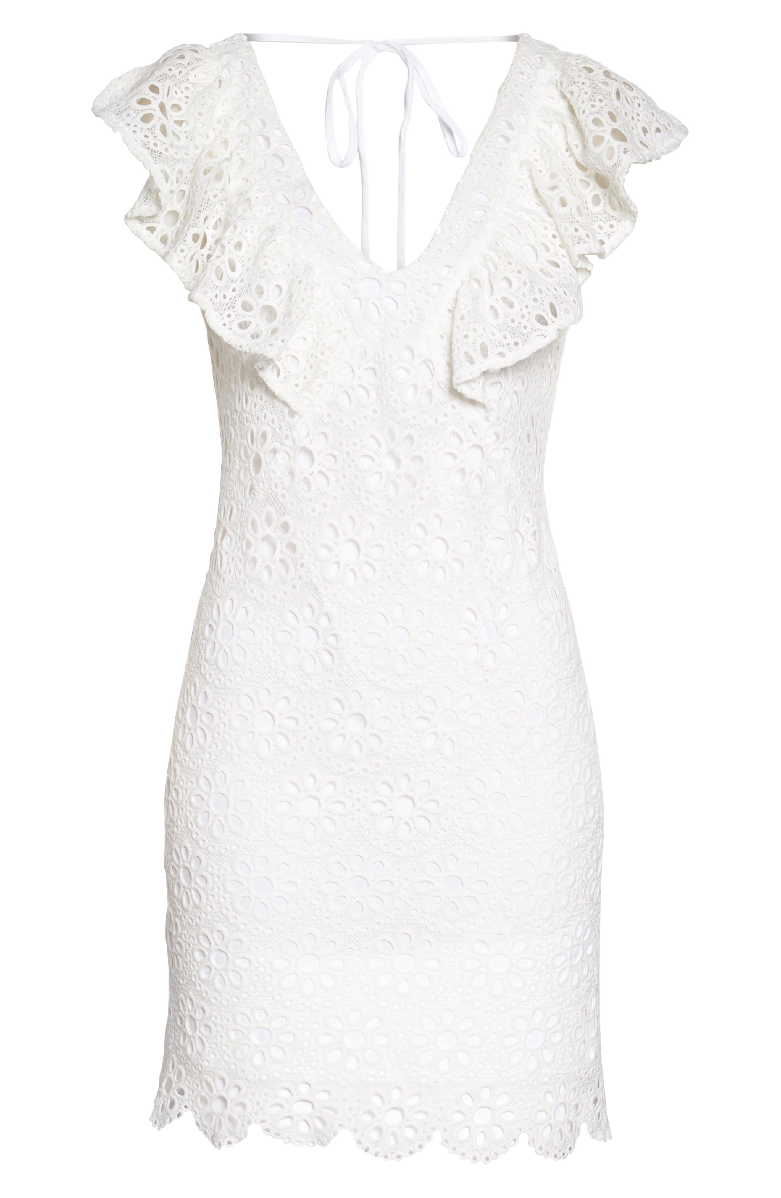 Neriah Eyelet Embroidered Dress,                             Alternate thumbnail 7, color,                             131