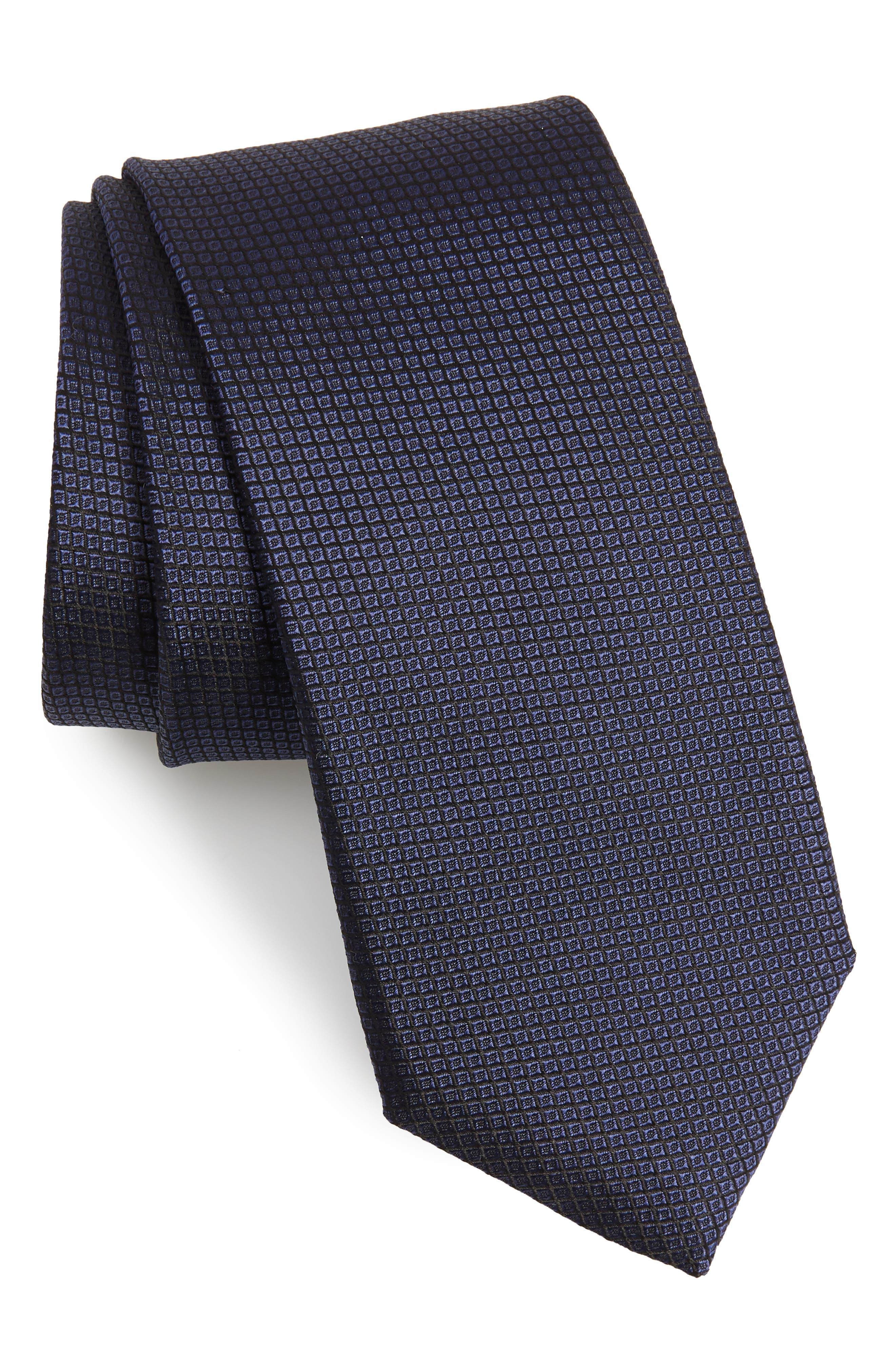 Check Silk Tie,                         Main,                         color, 473