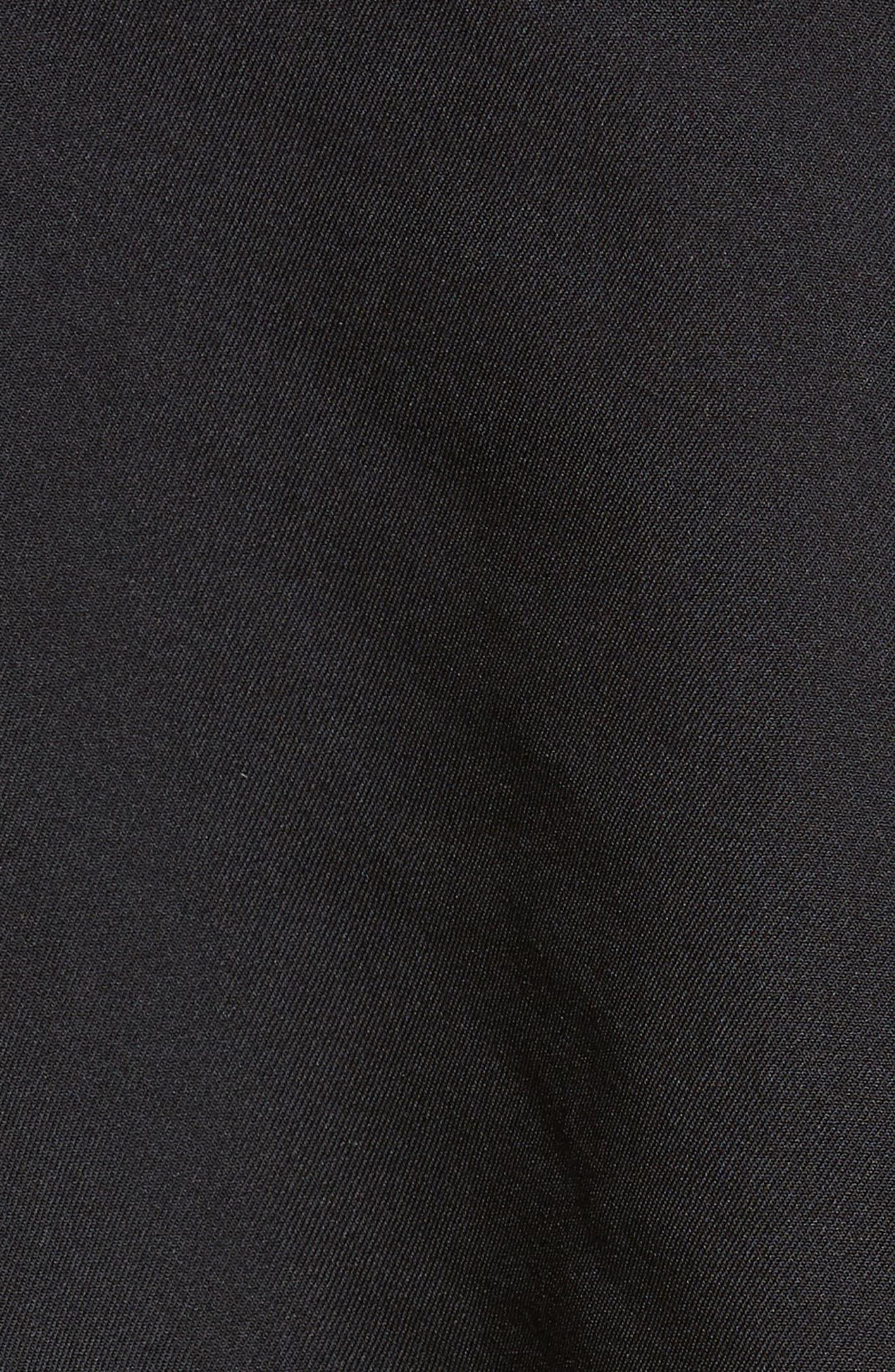 Twill Blazer,                             Alternate thumbnail 6, color,                             BLACK