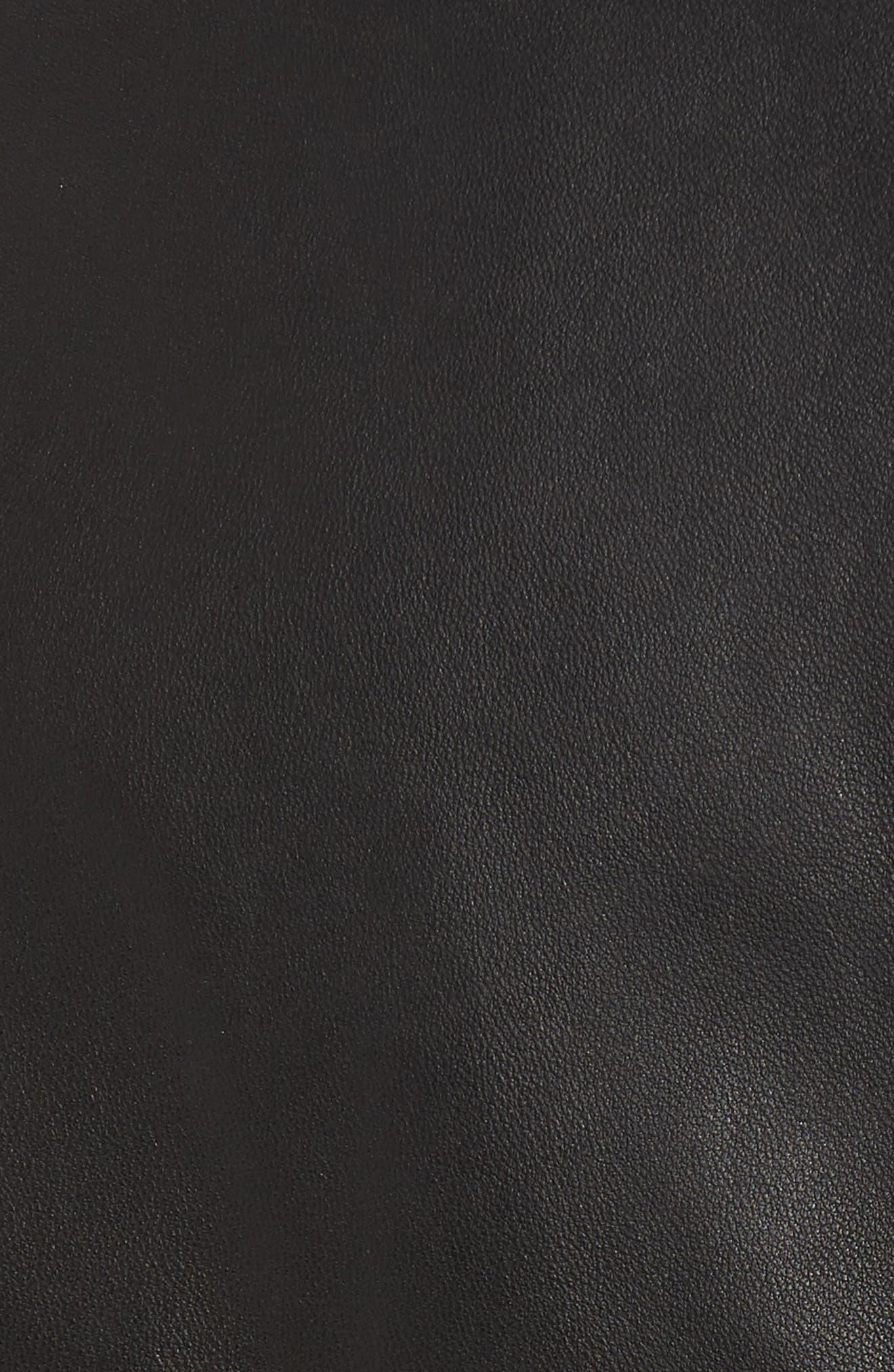 MACKAGE,                             Pina-L Leather Moto Jacket,                             Alternate thumbnail 6, color,                             001