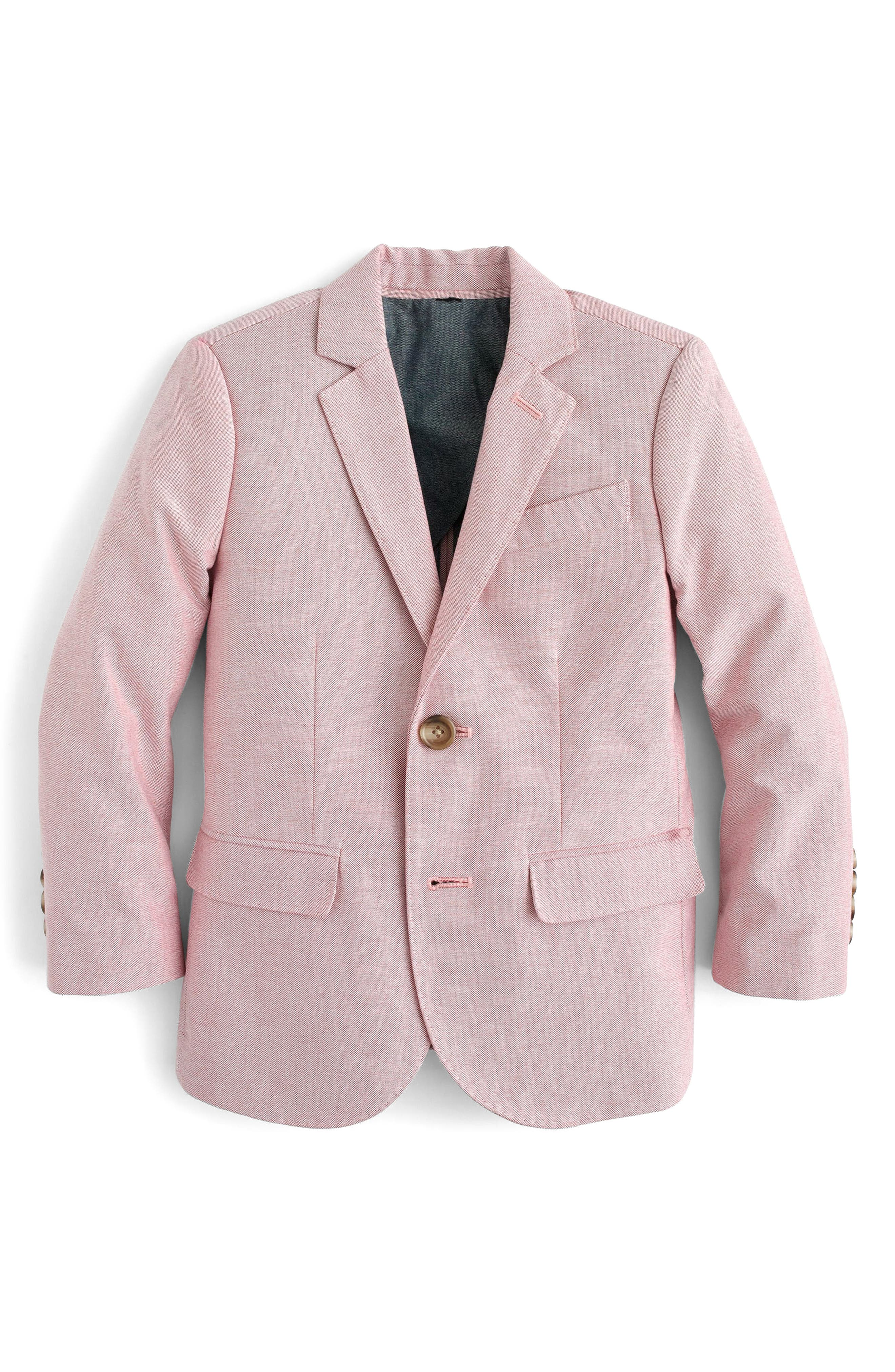 CREWCUTS BY J.CREW Ludlow Stretch Oxford Suit Jacket, Main, color, 600