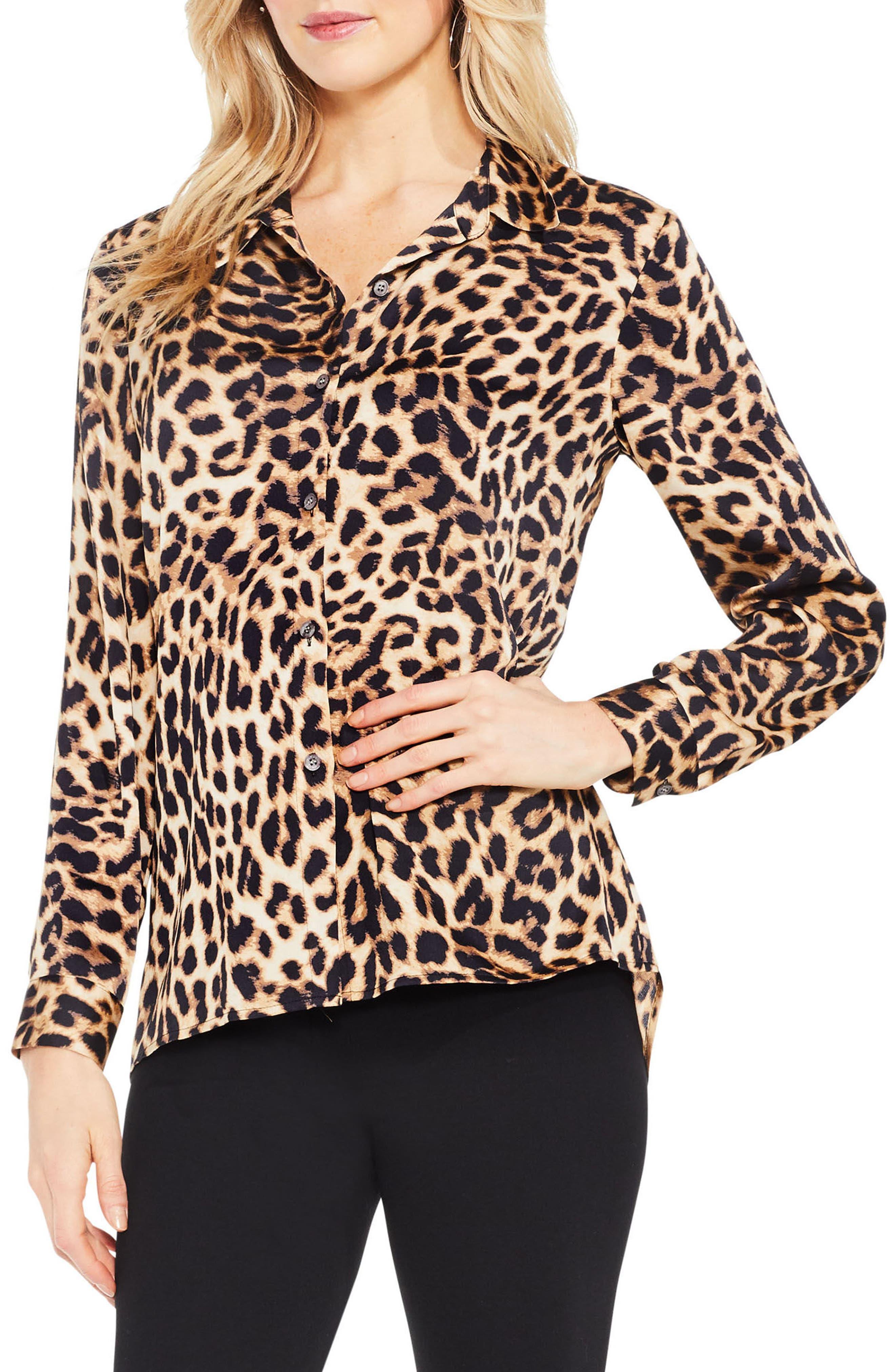 Leopard Print Blouse,                         Main,                         color, 006