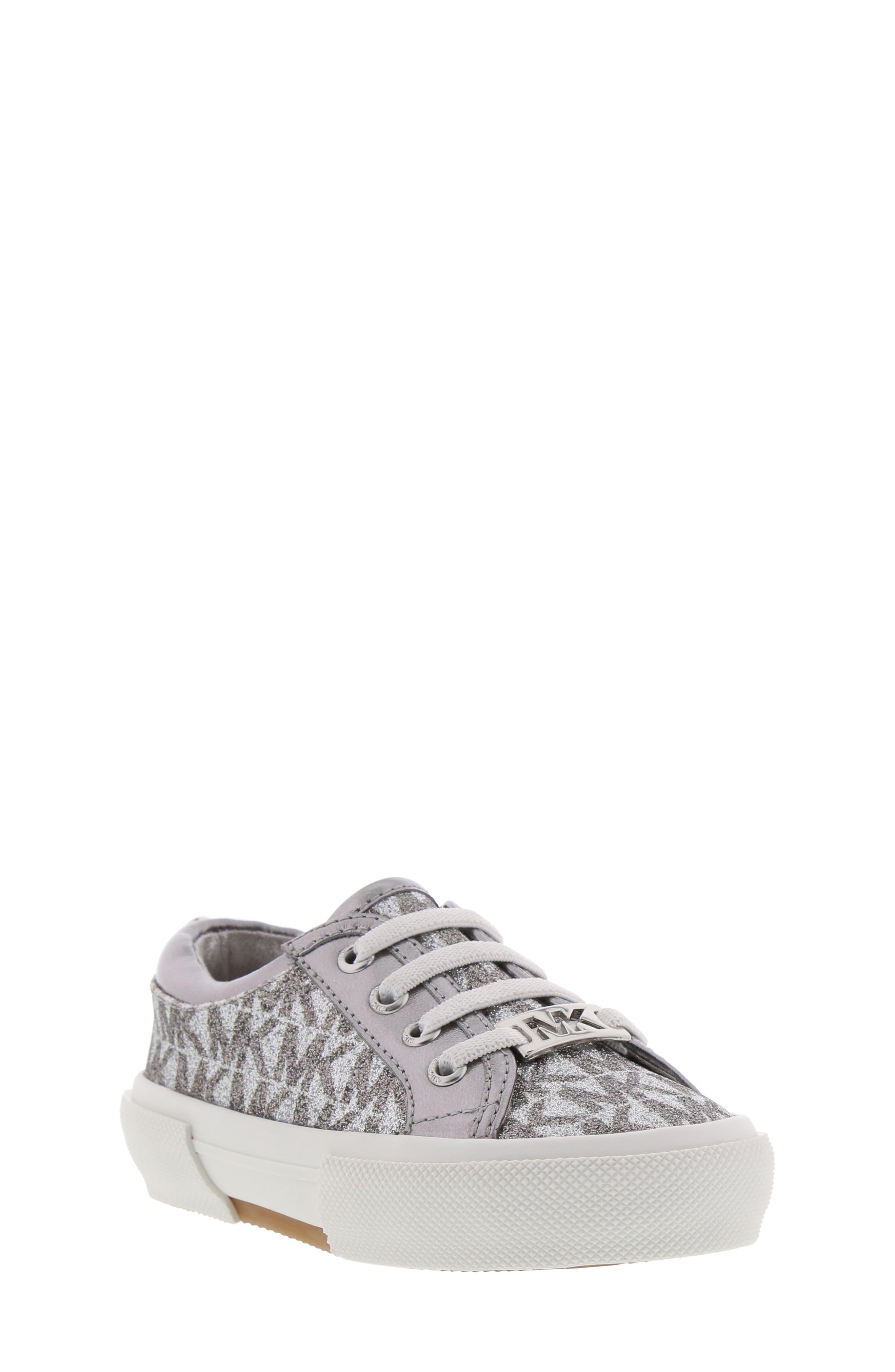 MICHAEL MICHAEL KORS Ima Tinsel Sneaker, Main, color, GUNMETAL