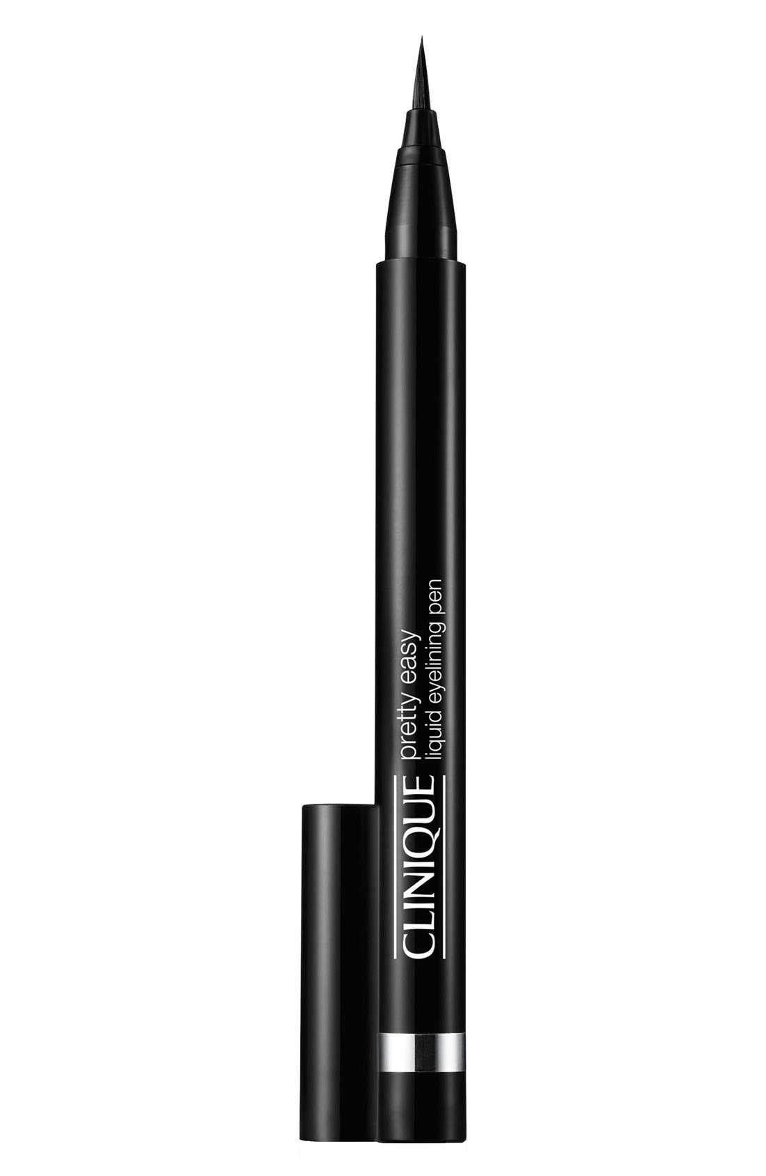 Pretty Easy Liquid Eyelining Pen,                             Main thumbnail 1, color,                             BLACK