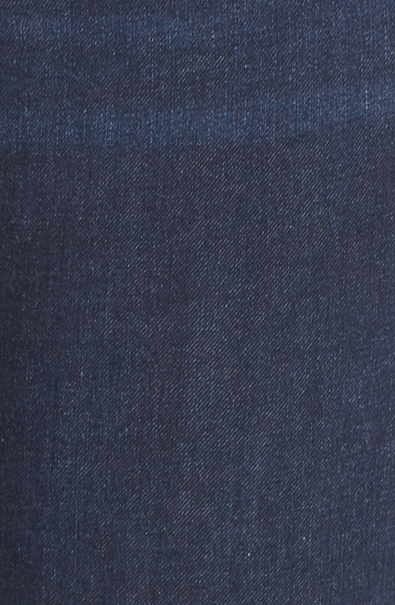 Remy - Hugger Straight Leg Jeans,                             Alternate thumbnail 6, color,                             CORVUS DARK