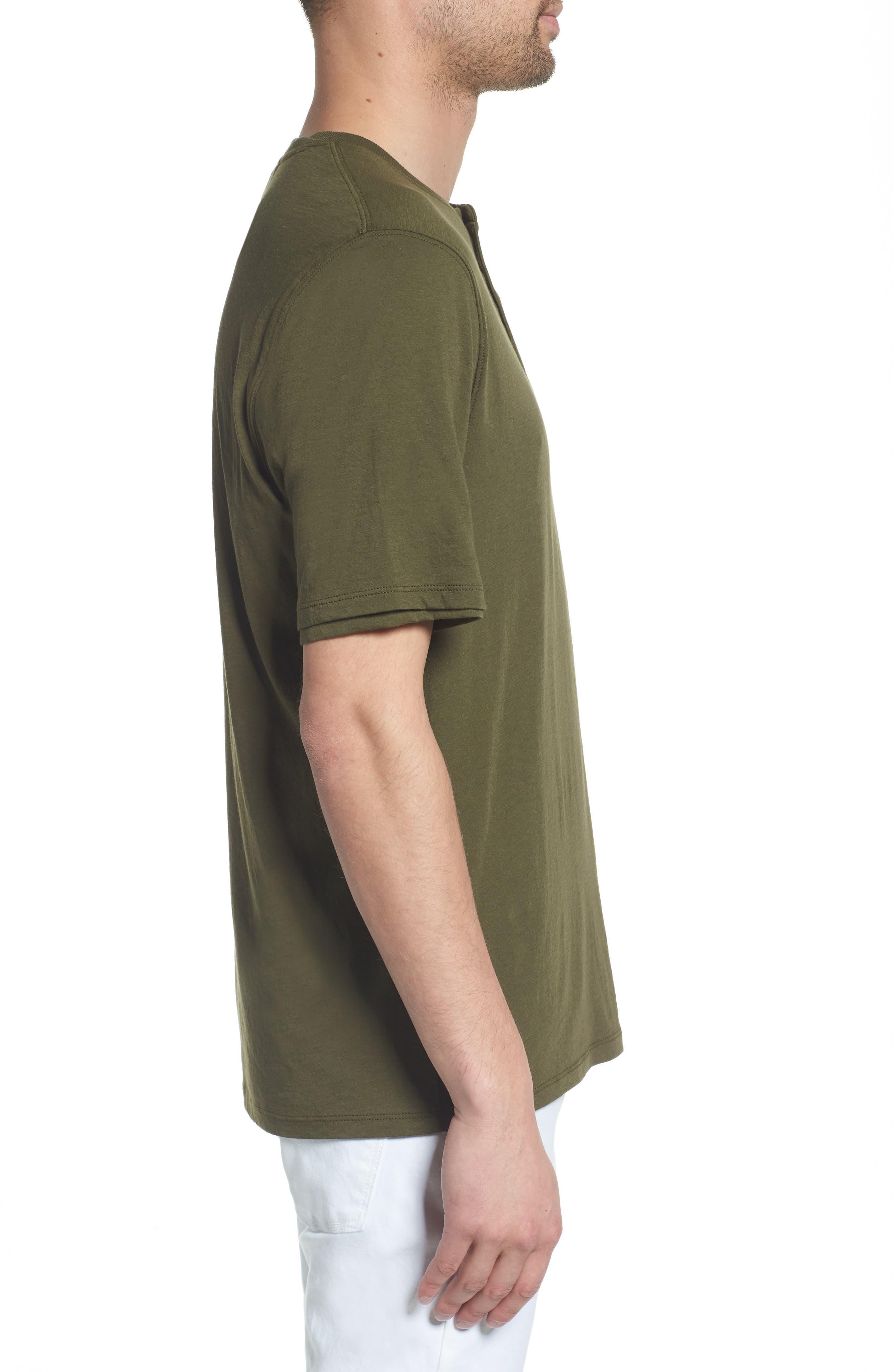 Layered Henley T-Shirt,                             Alternate thumbnail 3, color,                             FOLIAGE