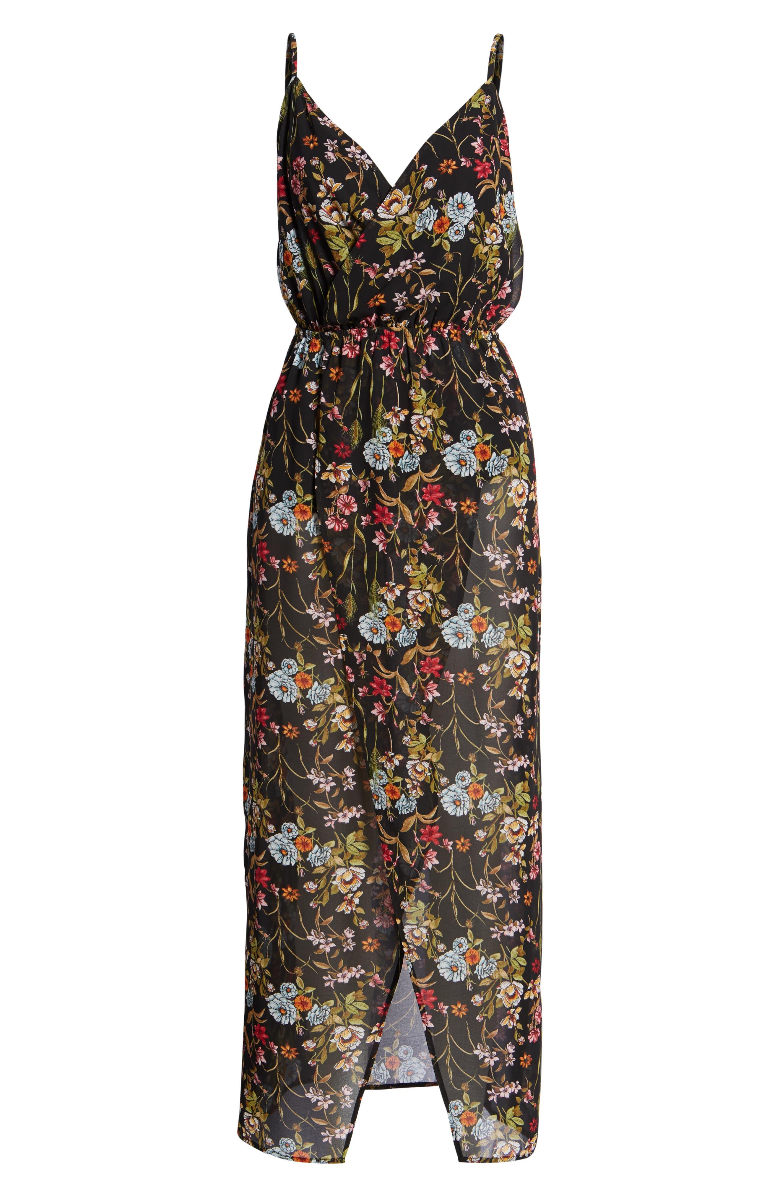Surplice High/Low Maxi Dress,                             Alternate thumbnail 7, color,