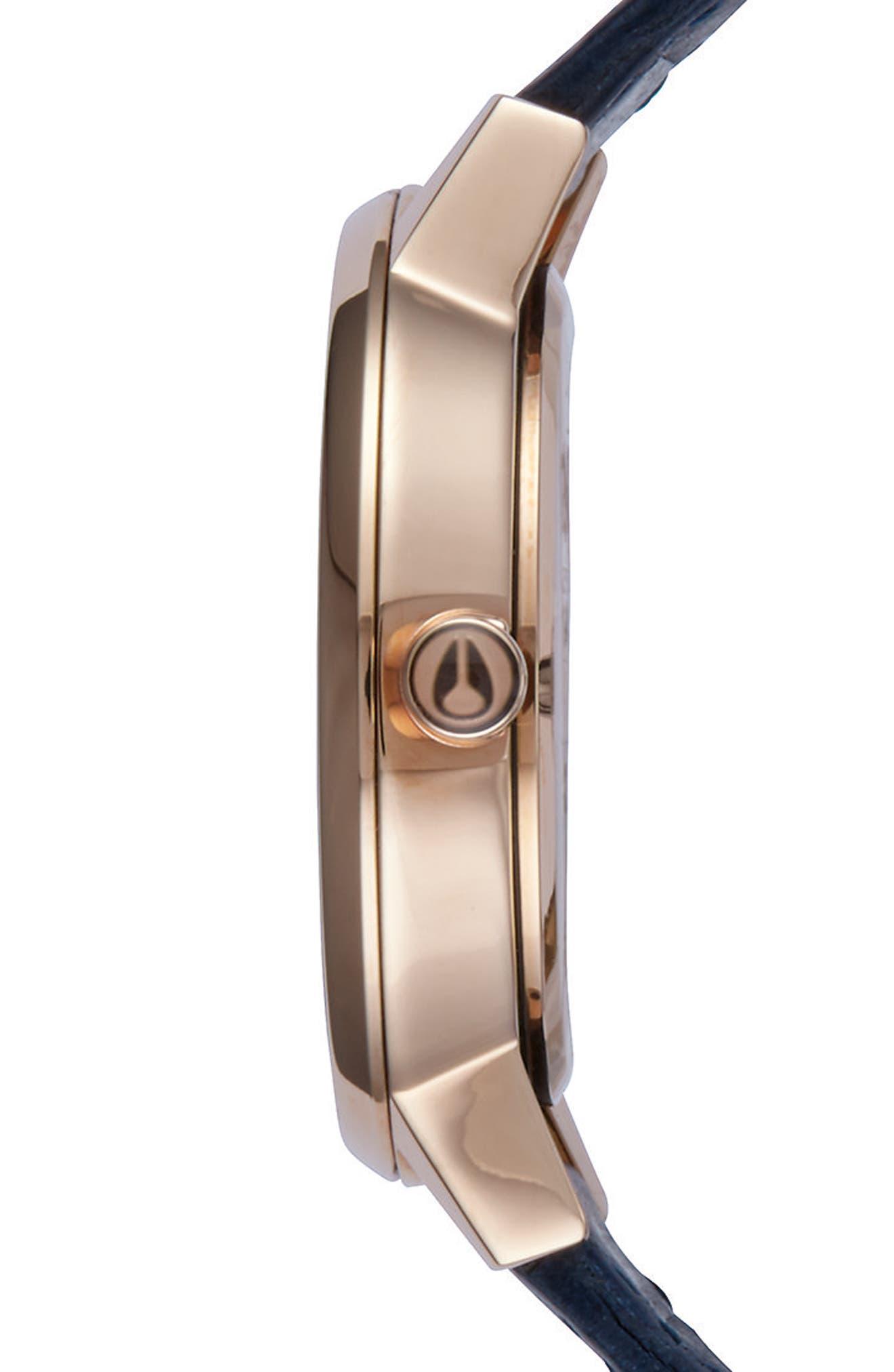 'The Kensington' Leather Strap Watch, 37mm,                             Alternate thumbnail 37, color,