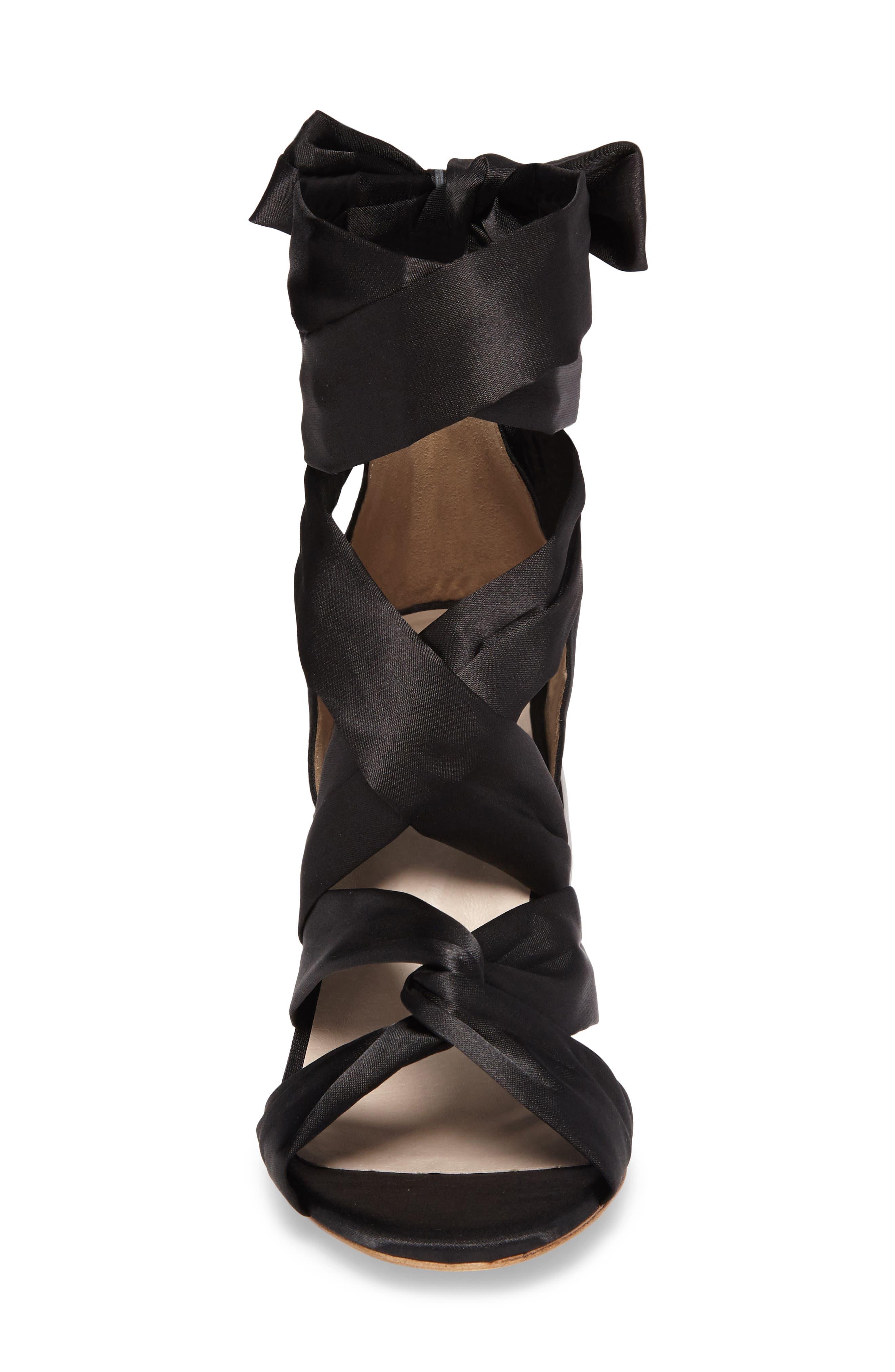 Myra Lace Up Sandal,                             Alternate thumbnail 4, color,                             004