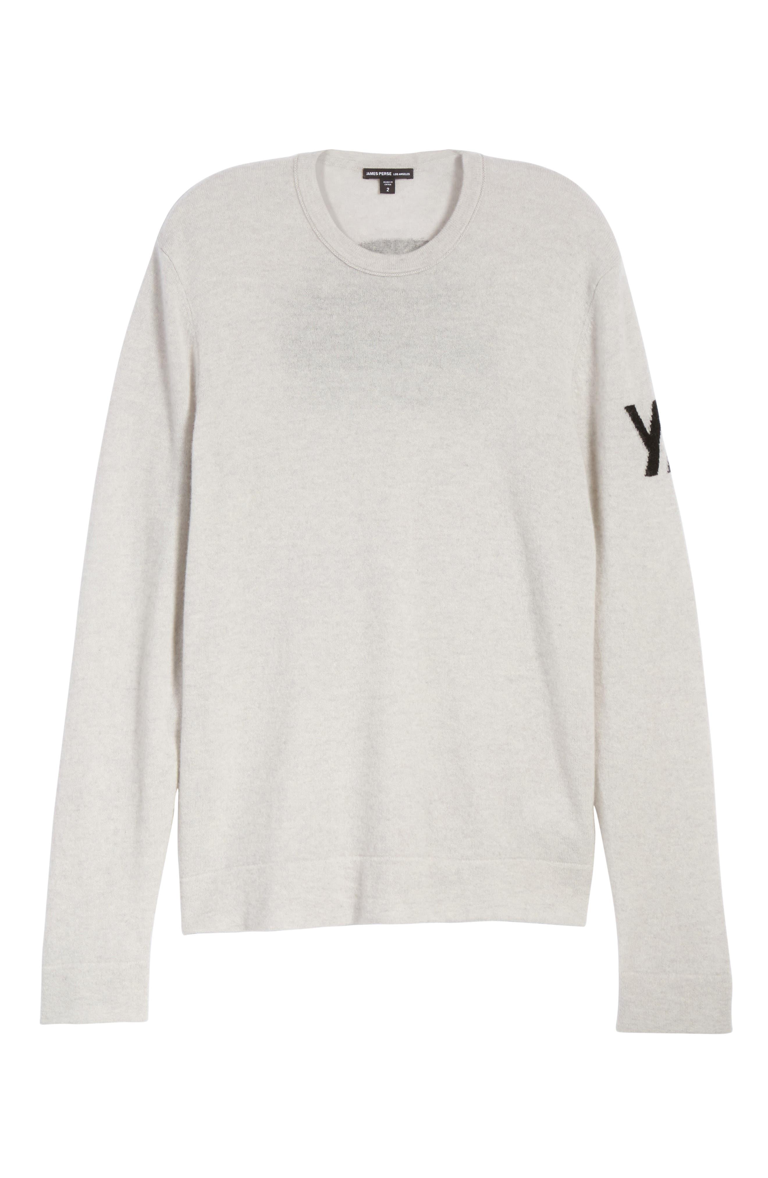 Intarsia Cashmere Sweater,                             Alternate thumbnail 6, color,                             115