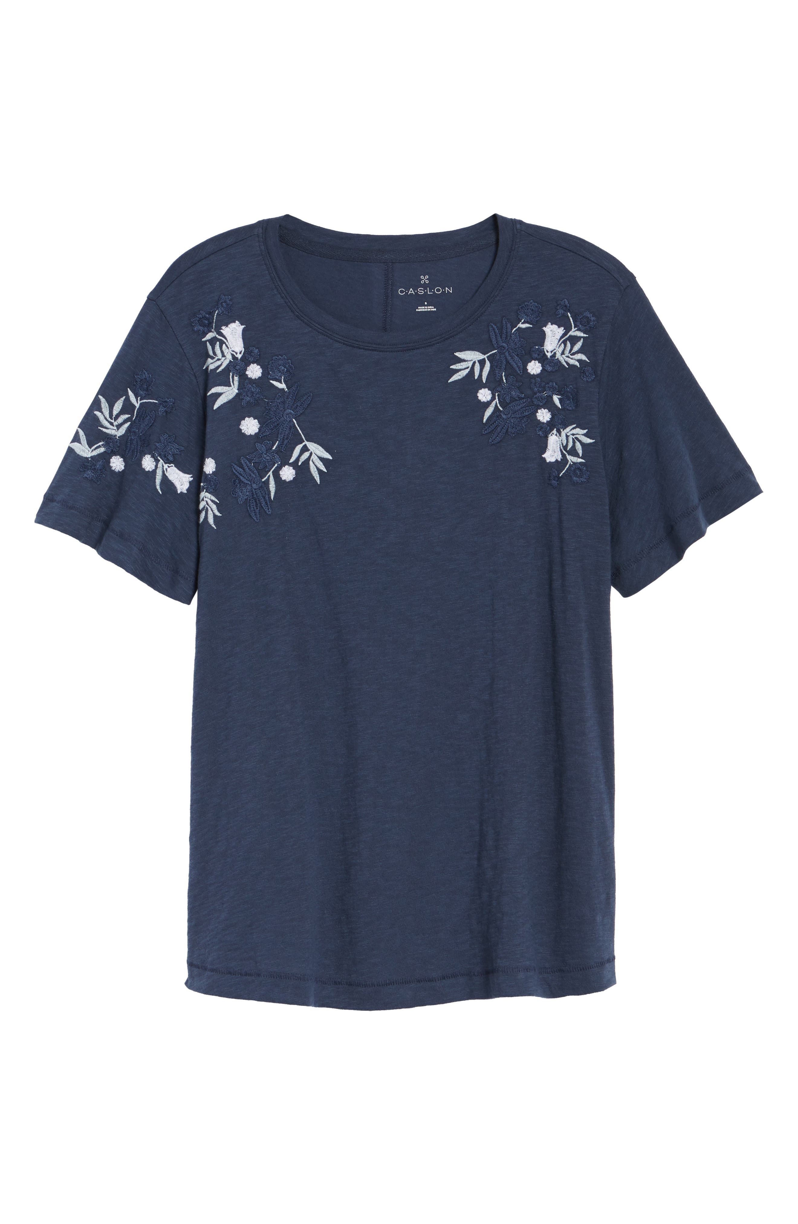 Embroidered Tee,                             Alternate thumbnail 13, color,