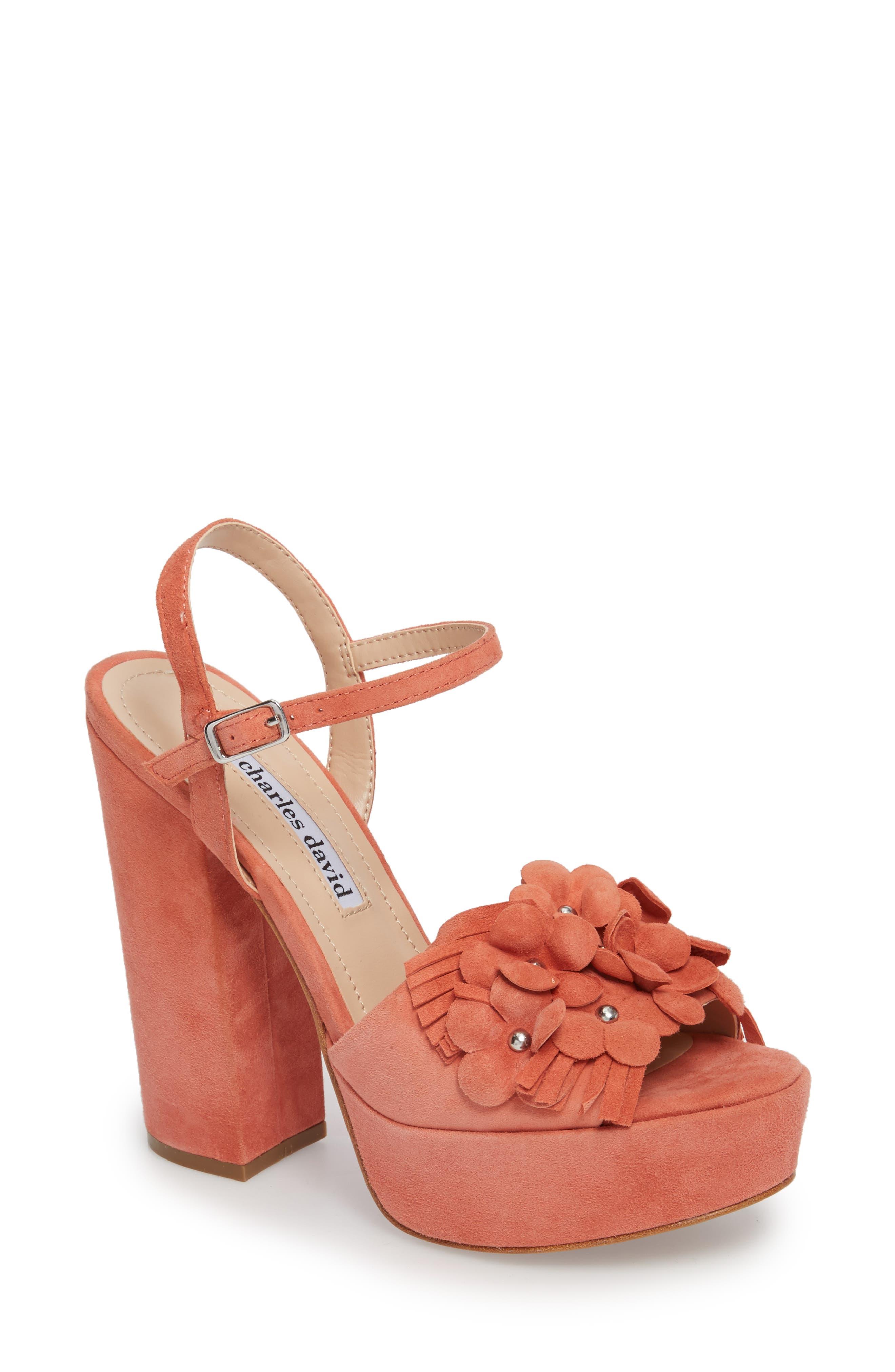 Charles David Royale Sandal- Coral