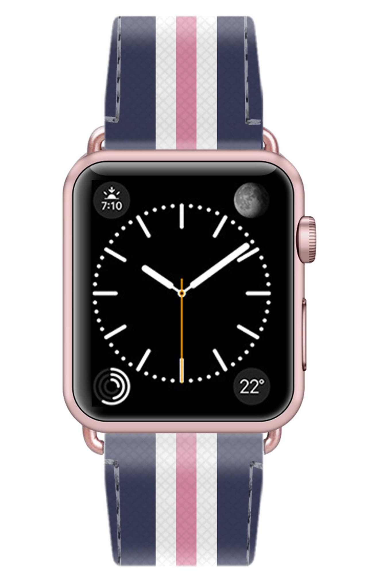 Saffiano Faux Leather Apple Watch Strap,                             Alternate thumbnail 29, color,