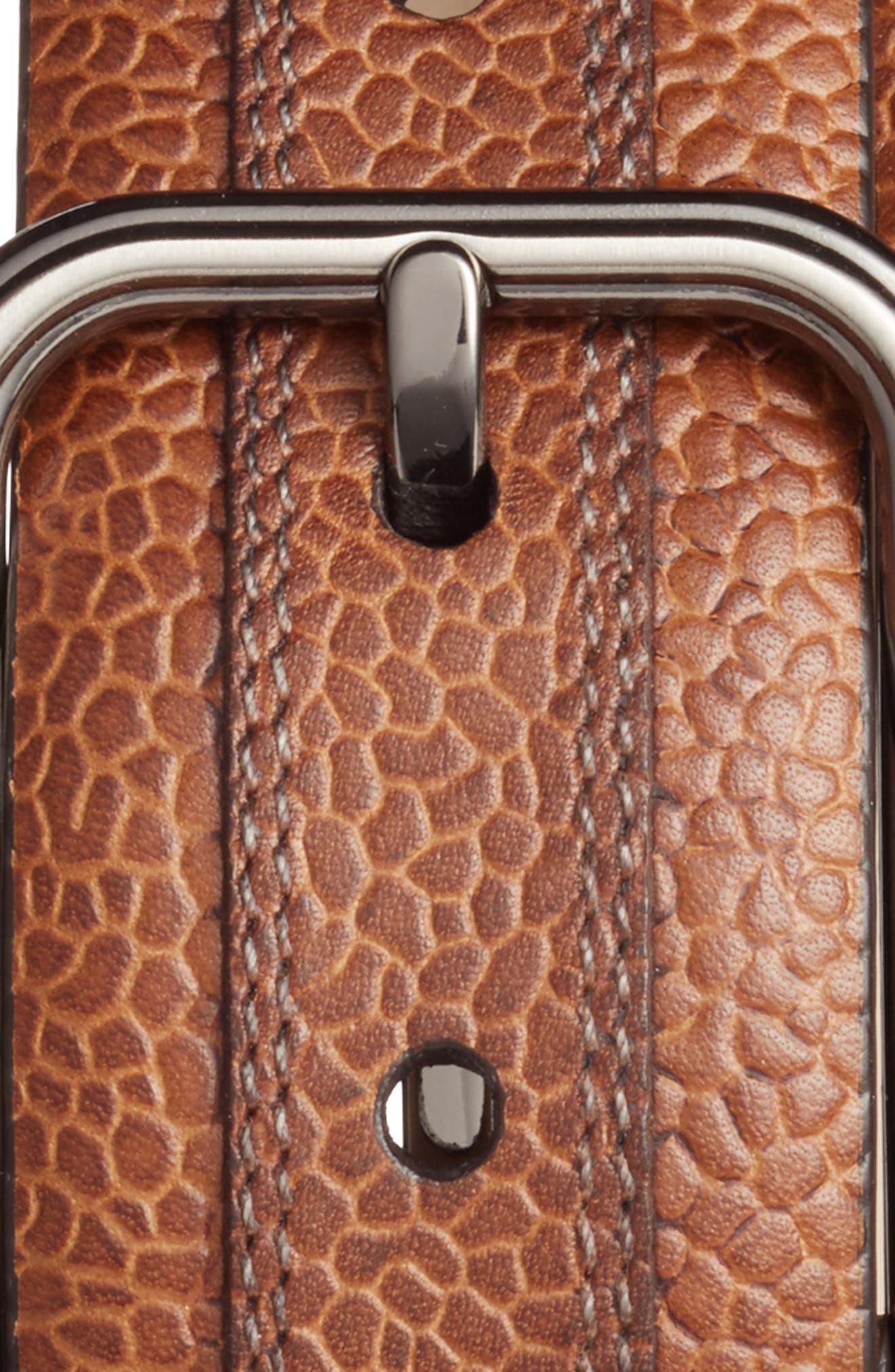 Leather Belt,                             Alternate thumbnail 4, color,