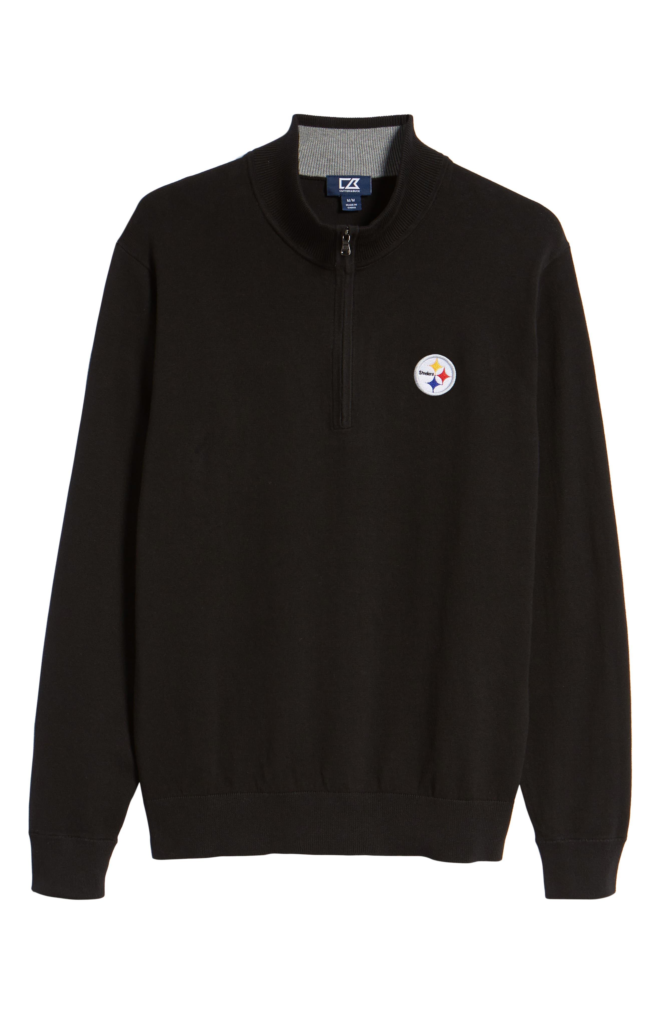 Pittsburgh Steelers - Lakemont Regular Fit Half Zip Sweater,                             Alternate thumbnail 6, color,                             001
