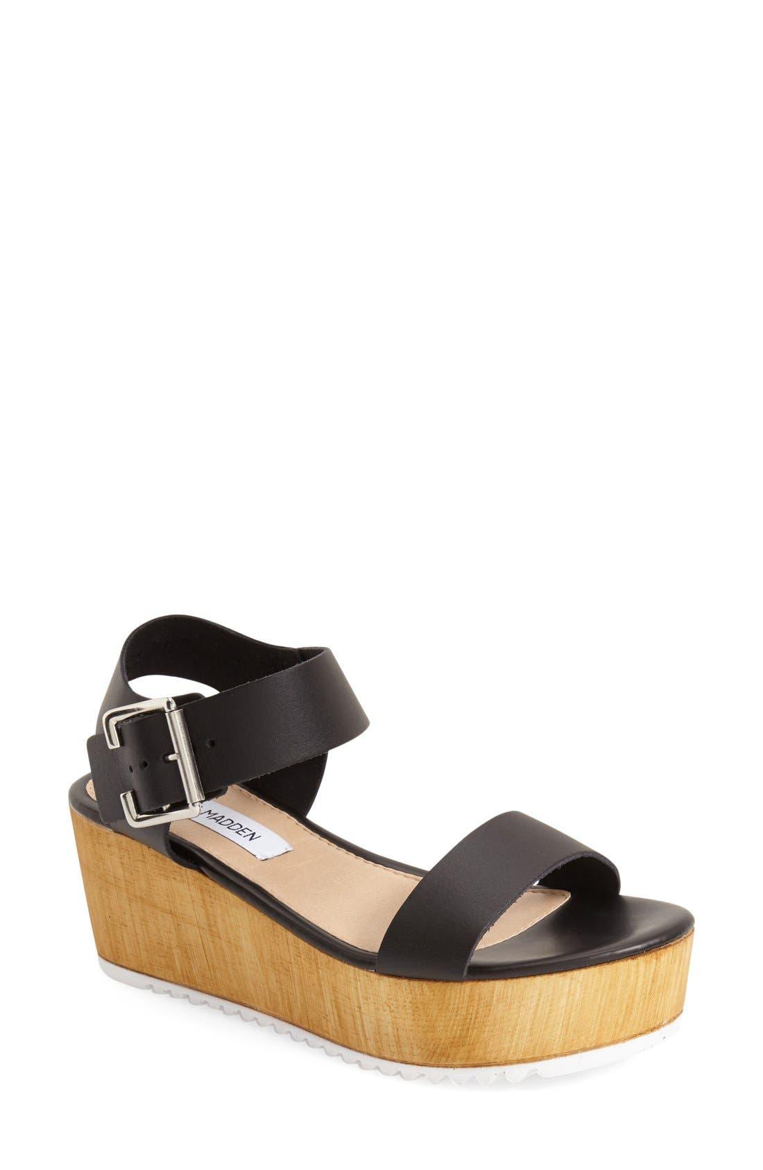 'Nylee' Platform Sandal,                             Main thumbnail 1, color,                             001