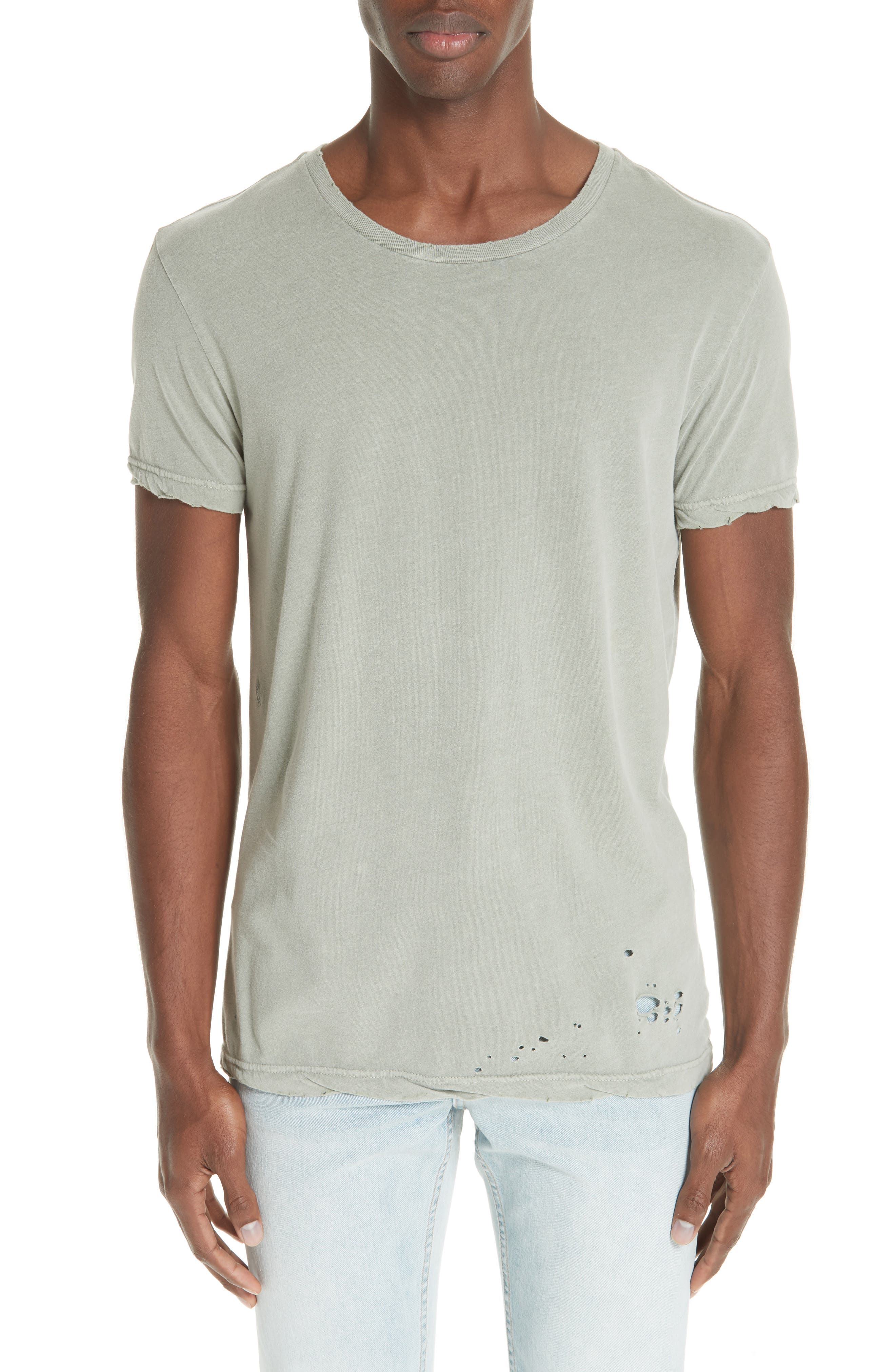 Sioux Distressed T-Shirt,                             Main thumbnail 1, color,                             GREEN