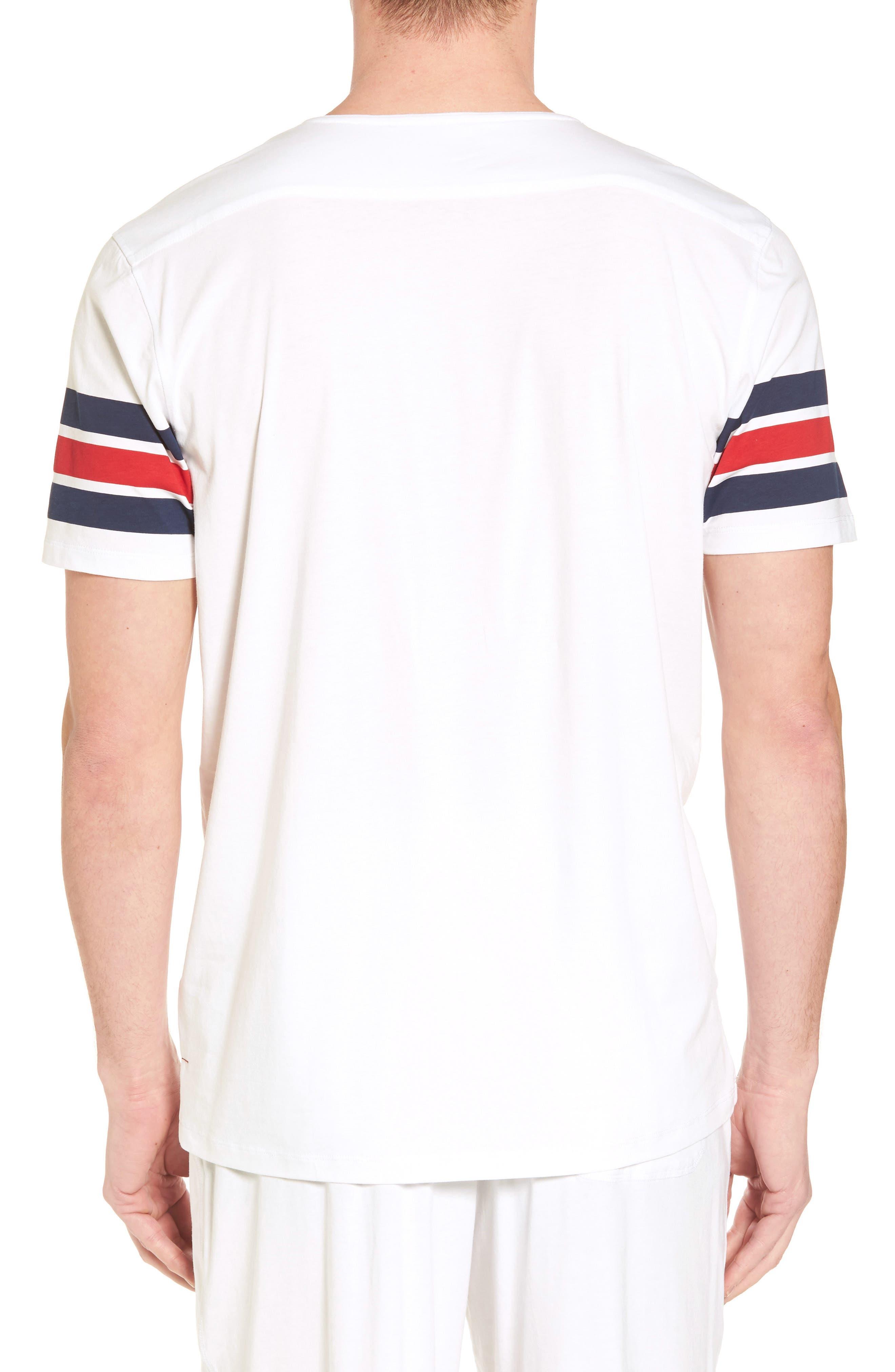 V-Neck Stretch Cotton Blend T-Shirt,                             Alternate thumbnail 2, color,                             645