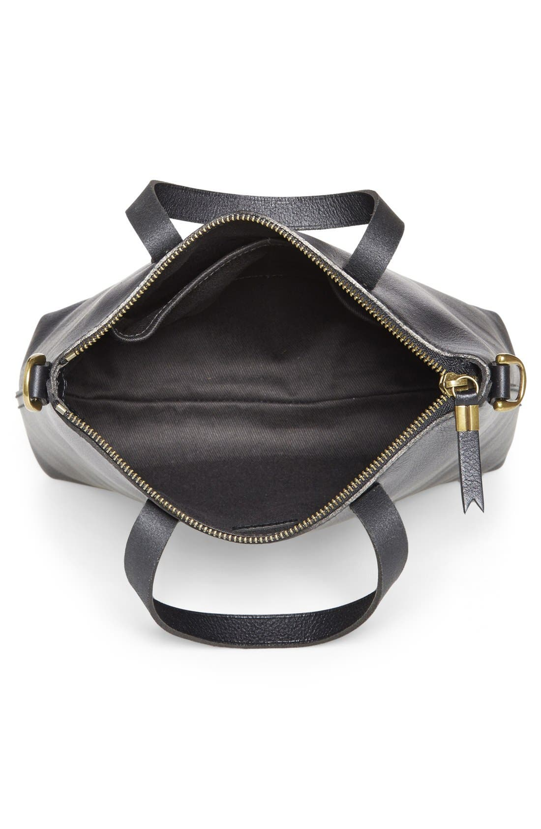 The Transport Leather Crossbody Bag,                             Alternate thumbnail 6, color,                             001
