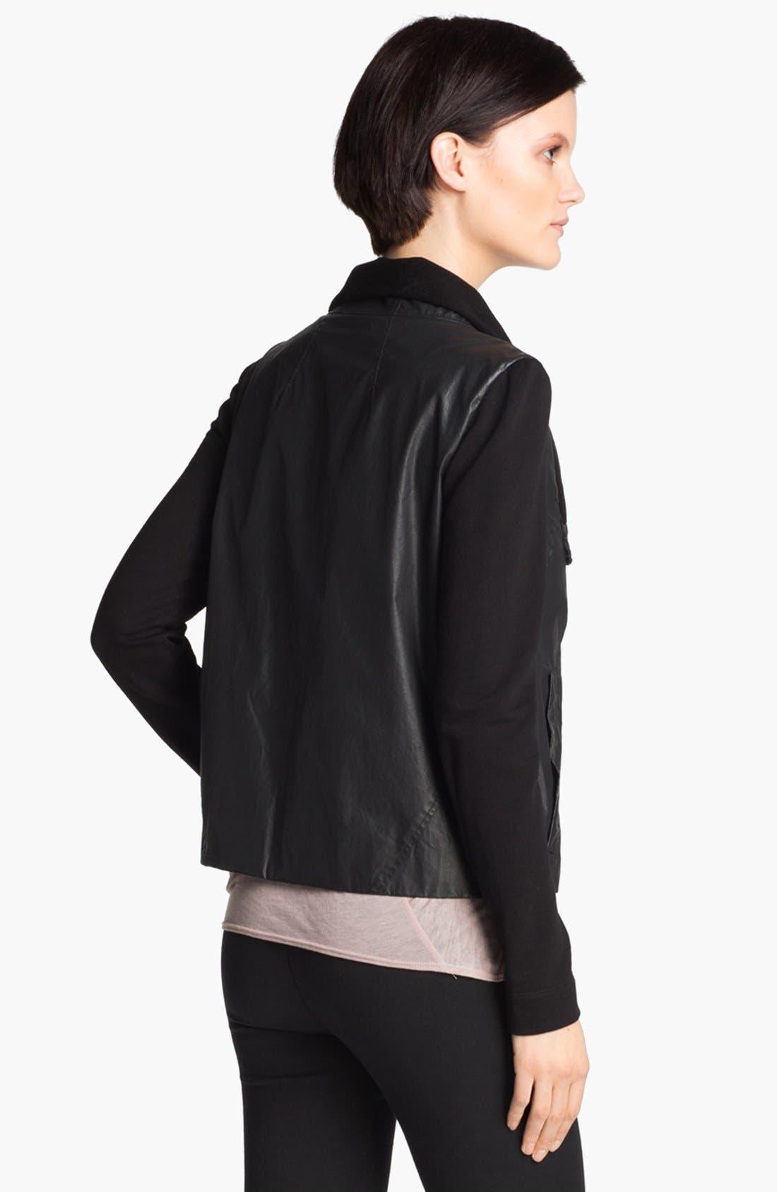 HELMUT Helmut Lang Glazed Cotton Jacket,                             Alternate thumbnail 2, color,