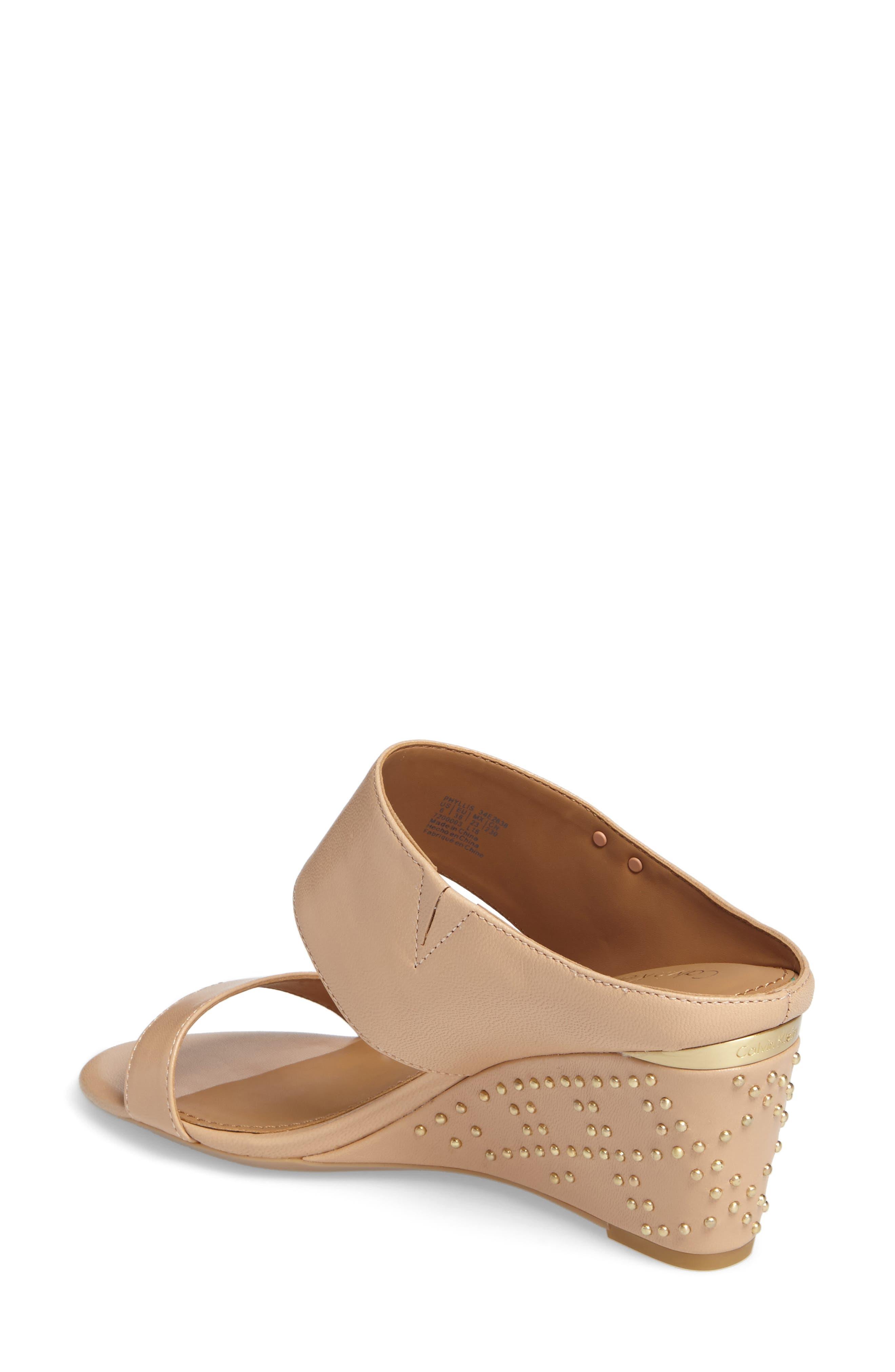 Phyllis Studded Wedge Sandal,                             Alternate thumbnail 8, color,