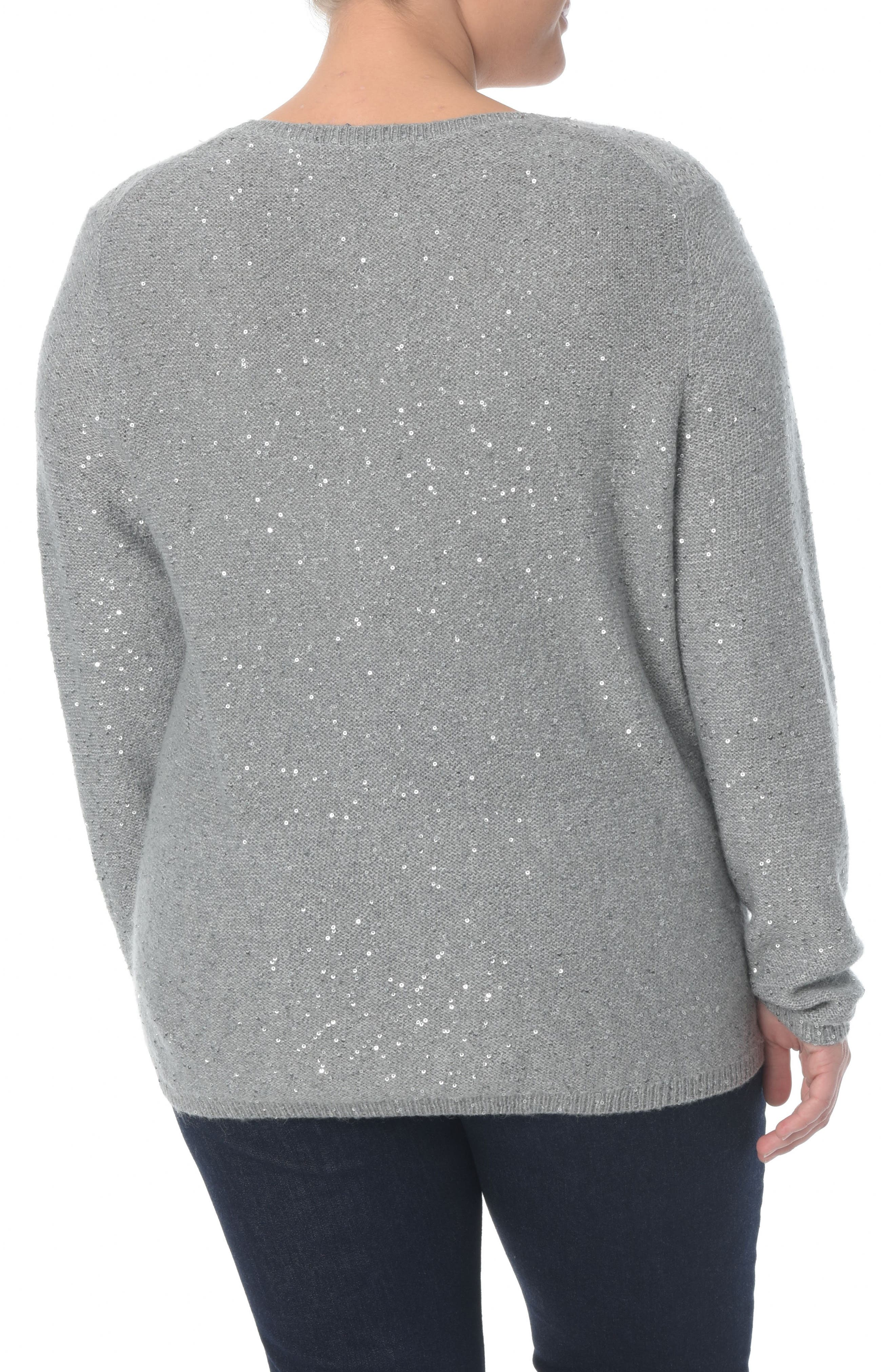Sequin Scoop Neck Sweater,                             Alternate thumbnail 2, color,                             MINERAL