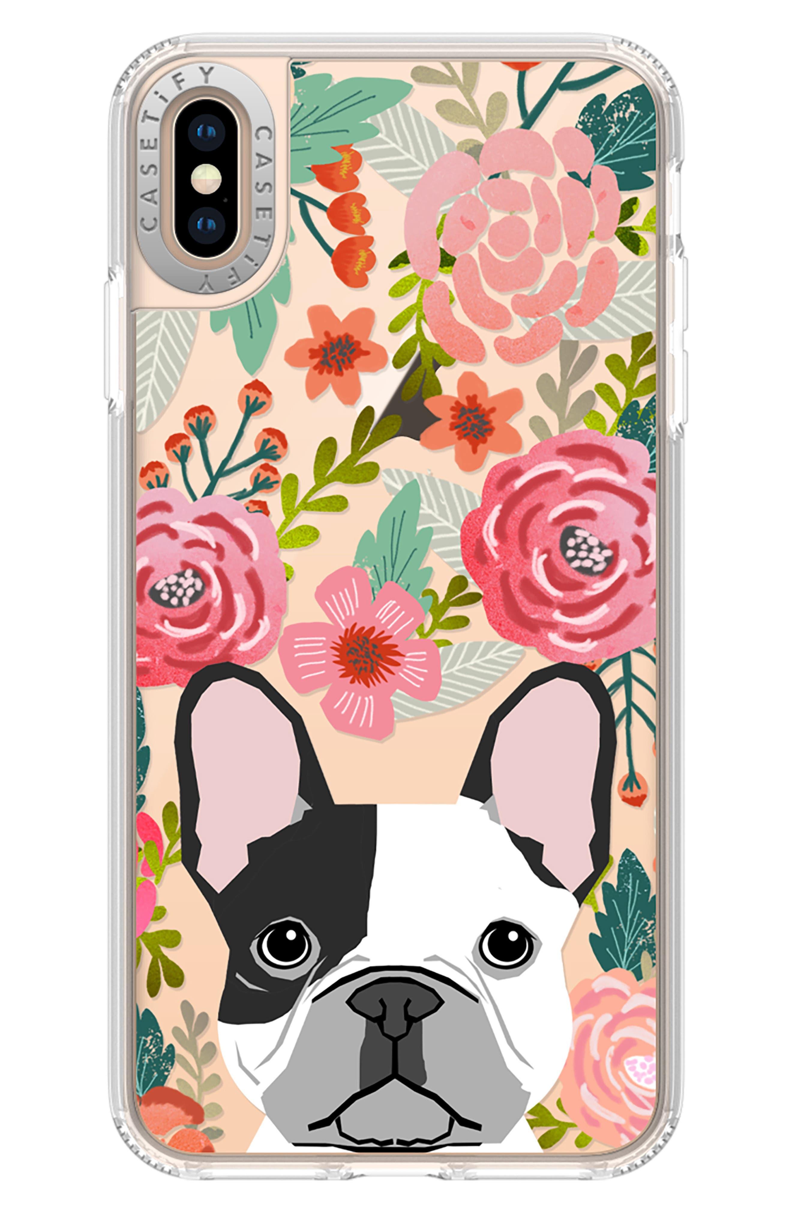 French Bulldog Grip iPhone X/Xs, XR & X Max Case,                             Alternate thumbnail 5, color,                             650