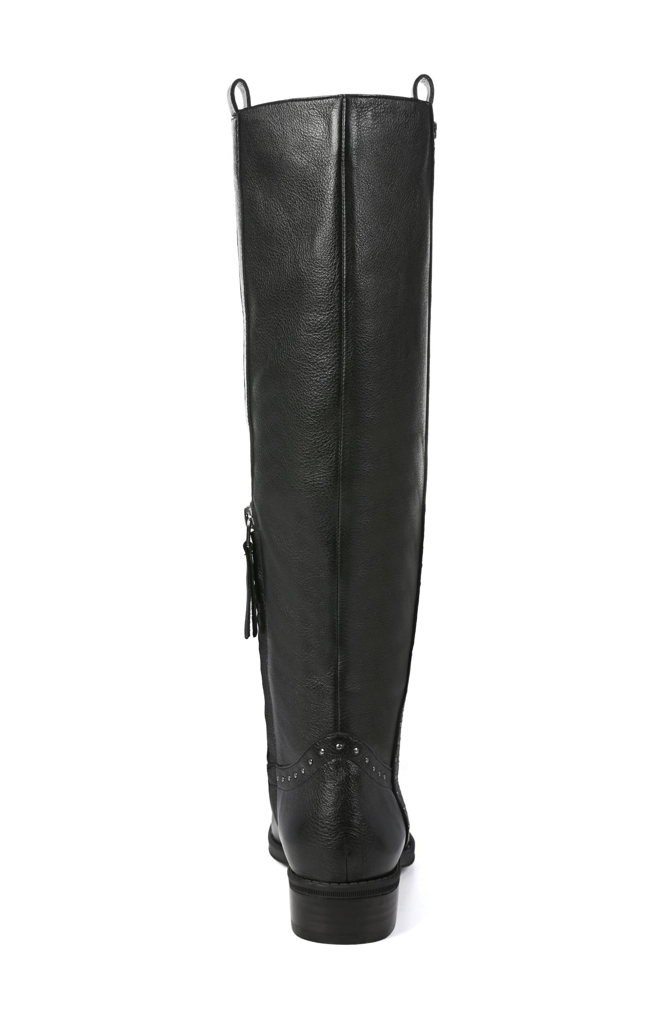 Prina Riding Boot,                             Alternate thumbnail 8, color,                             BLACK LEATHER