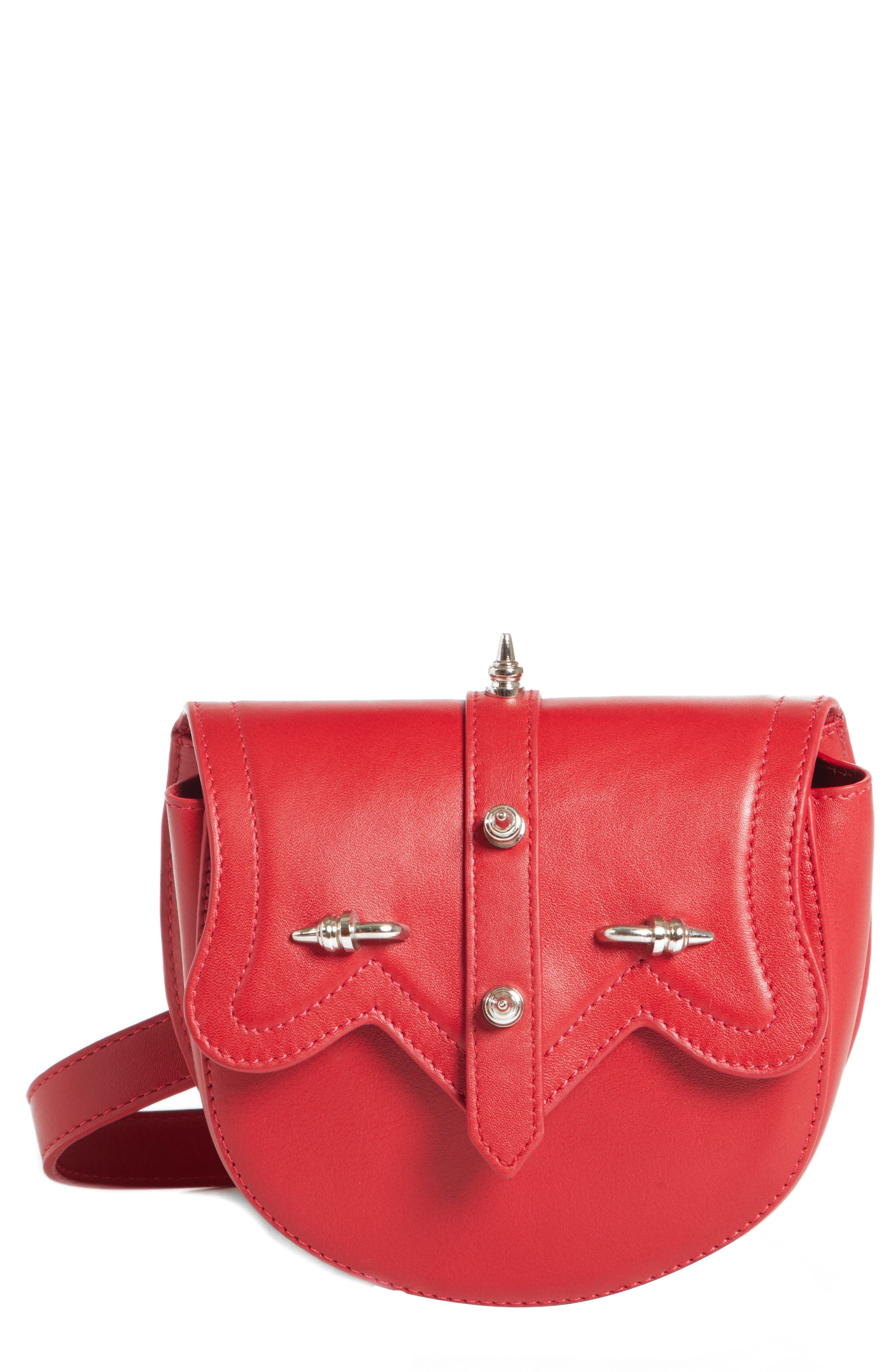 OKHTEIN Dome Belt Bag - Red in Red X Silver